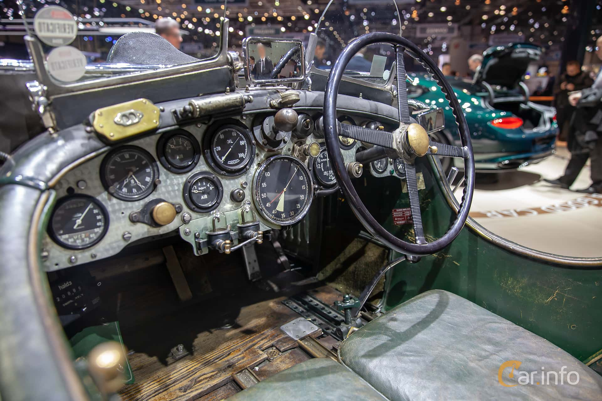 Interior of Bentley 4.5 Litre Cabriolet 4.4 Manual, 110ps, 1930 at Geneva Motor Show 2019