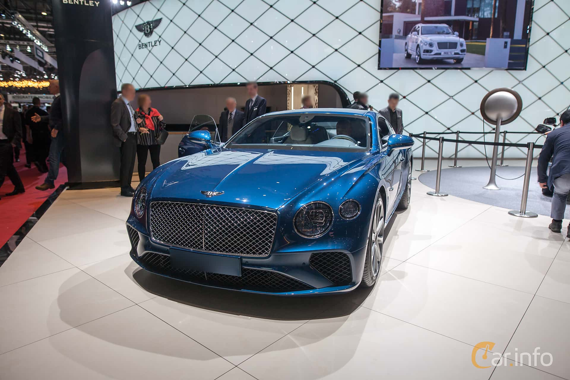 Front/Side  of Bentley Continental GT 6.0 W12 TSI DCT, 635ps, 2018 at Geneva Motor Show 2018