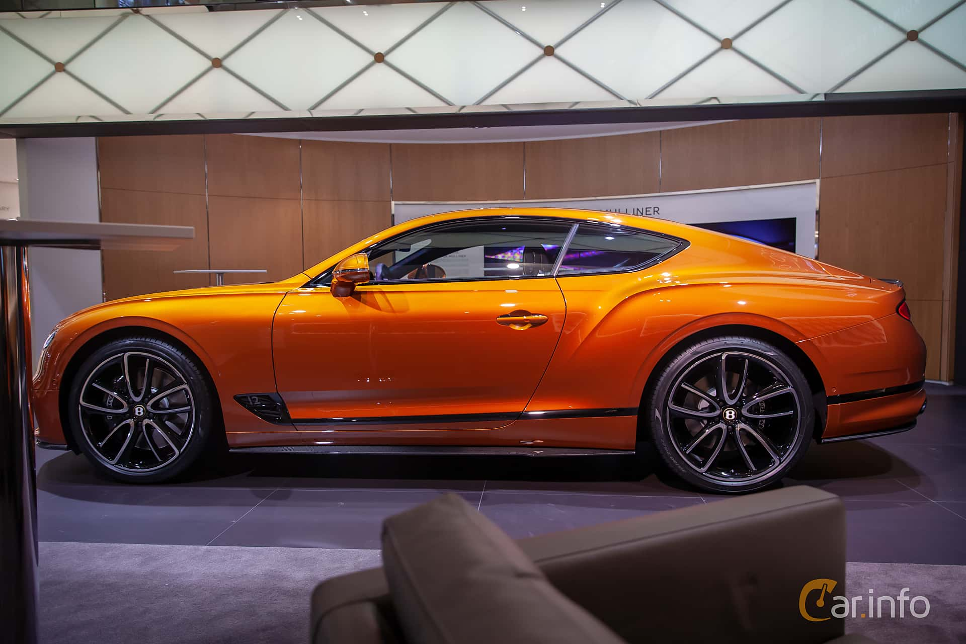 Side  of Bentley Continental GT 6.0 W12 TSI DCT, 635ps, 2019 at Geneva Motor Show 2019