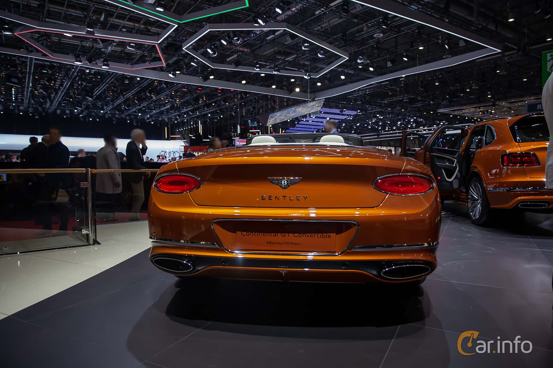 Back of Bentley Continental GTC 6.0 W12 TSI DCT, 635ps, 2019 at Geneva Motor Show 2019