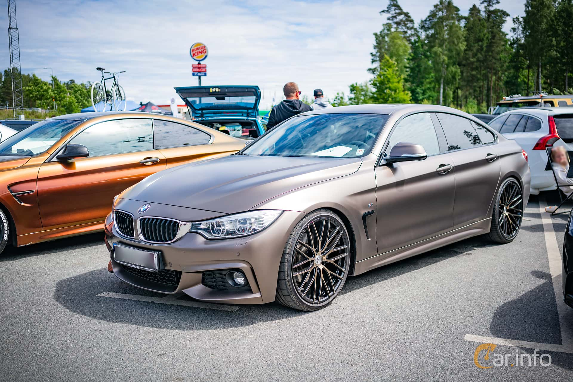 Front/Side  of BMW 3 Series Sedan 2012 at Biltema Meet, Växjö 2018