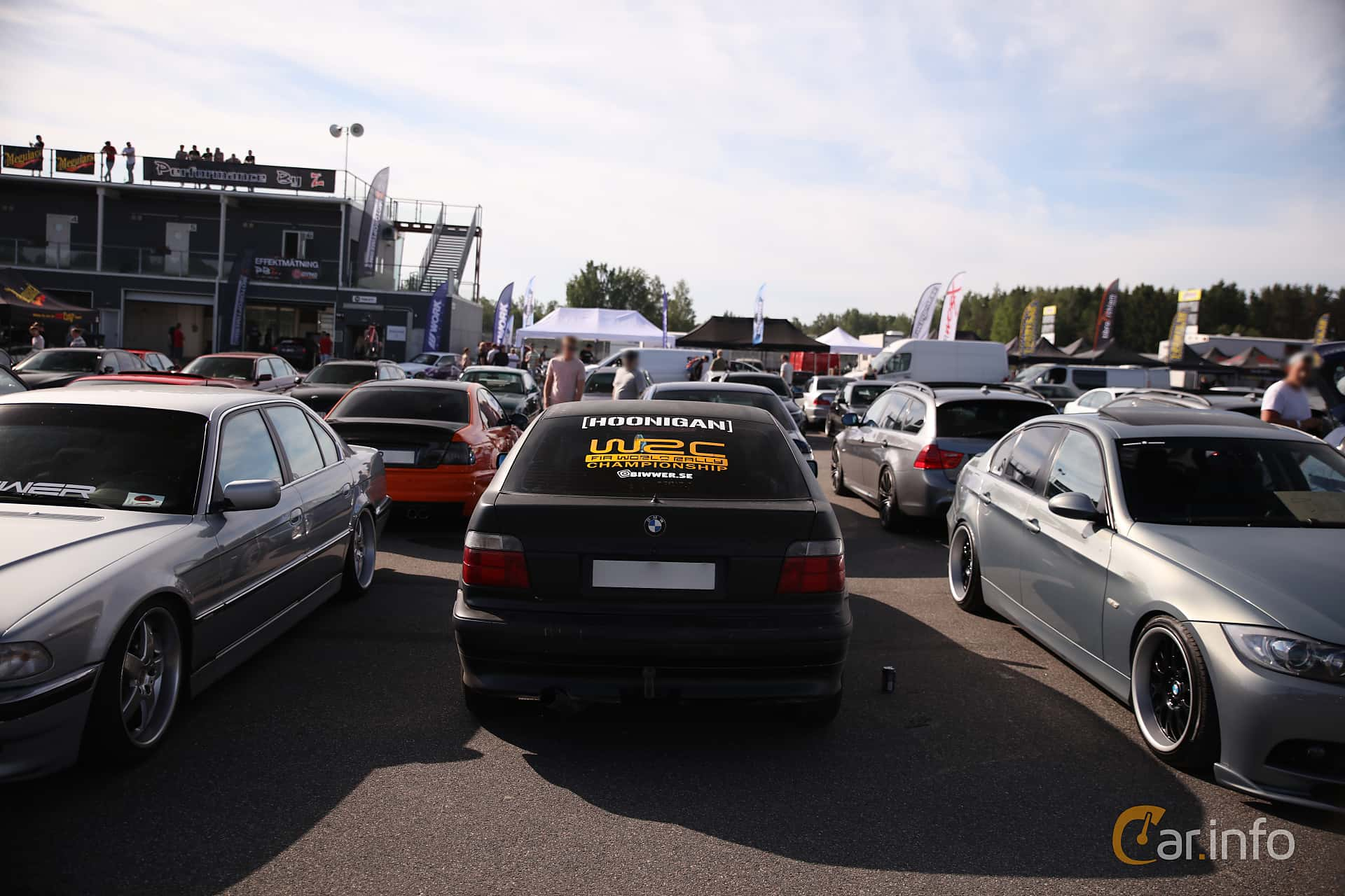 Back of BMW 316i Compact Manual, 105ps, 2000 at Bimmers of Sweden @ Mantorp