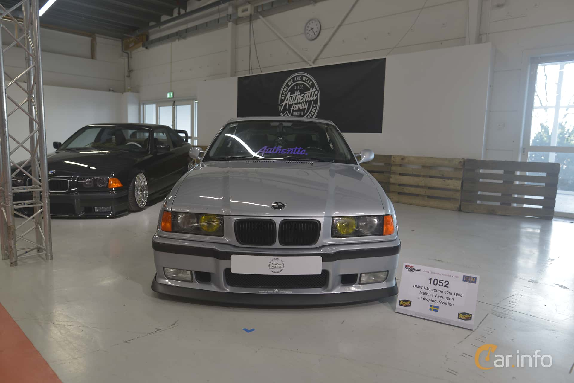 BMW 328i Coupé  193hp, 1996 at Bilsport Performance & Custom Motor Show 2019