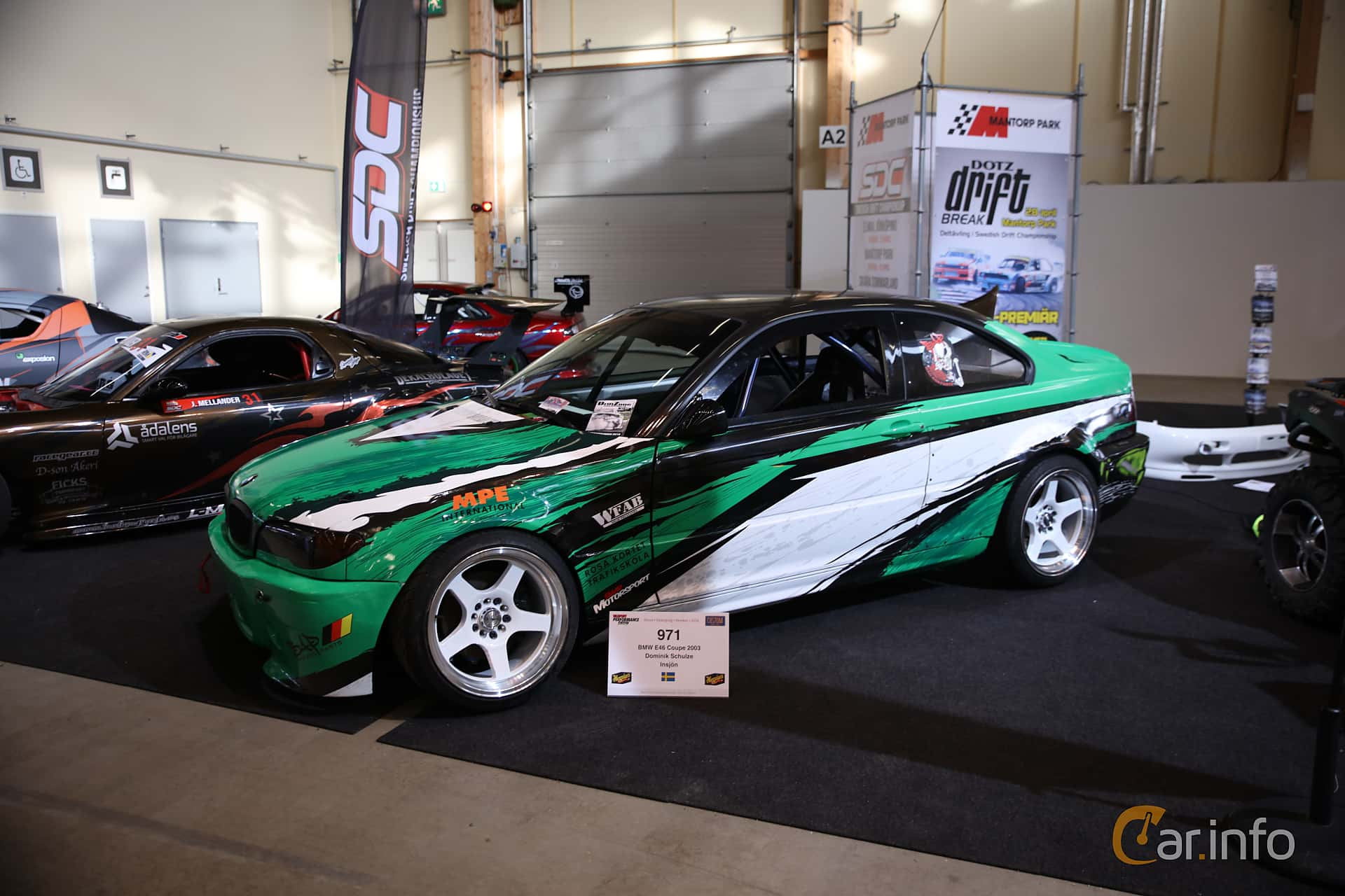 Front Side Of BMW 3 Series Coupe 2003 At Bilsport Performance Custom Motor Show