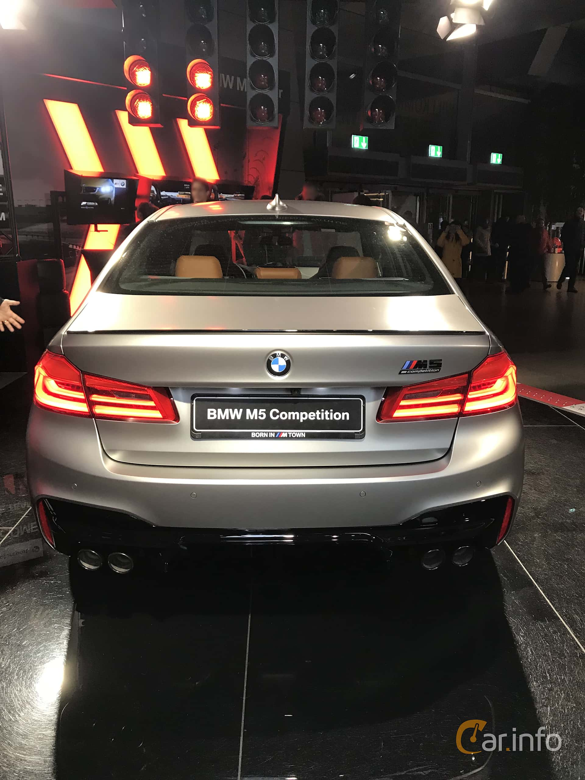 Back of BMW M5 Competition  Steptronic, 625ps, 2019