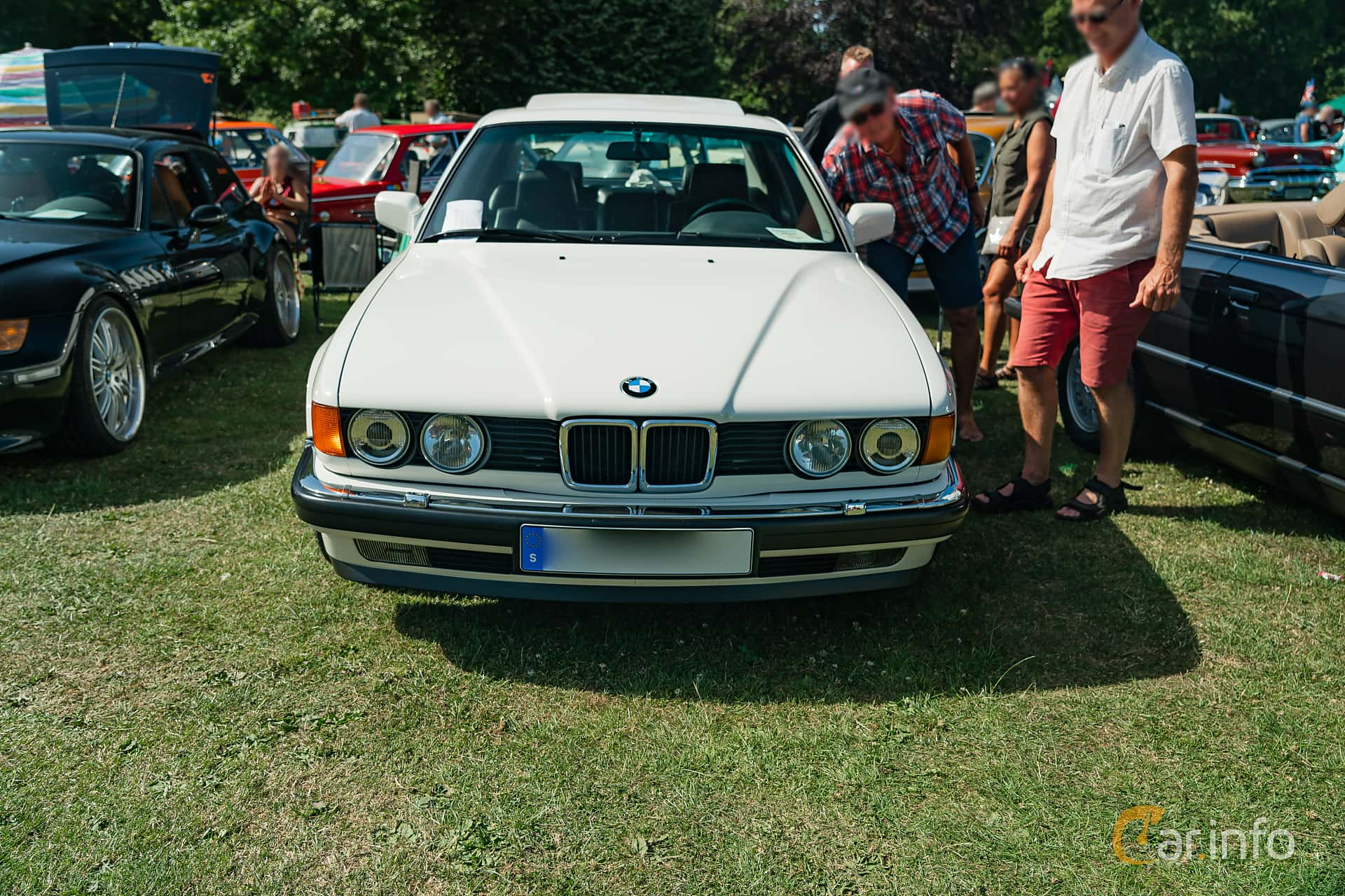BMW 730i  Automatic, 188hp, 1989 at Ronneby Nostalgia Festival 2019
