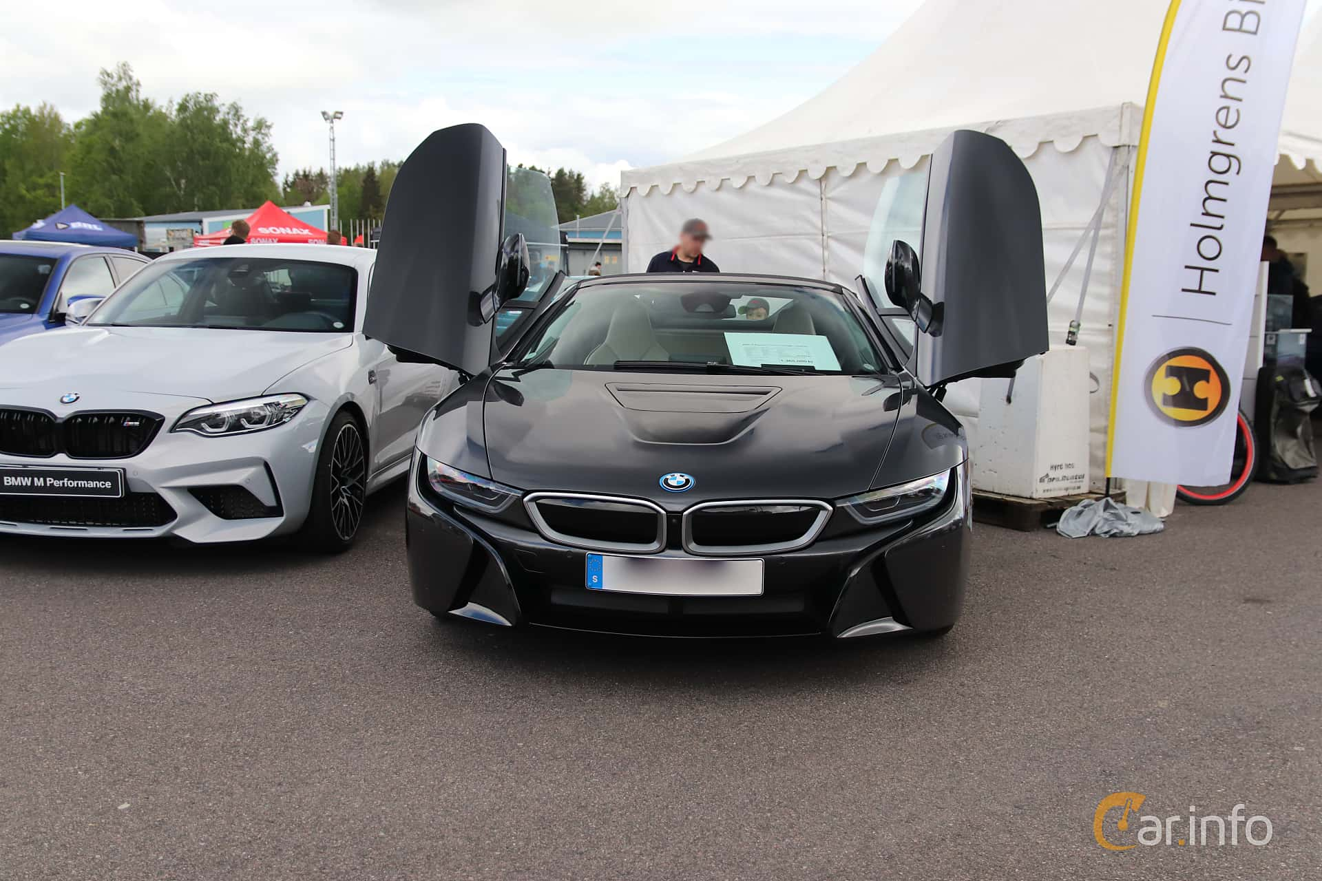 BMW i8 Roadster 1.5 + 11.6 kWh Steptronic, 374hp, 2019 at Bimmers of Sweden @ Mantorp 2019