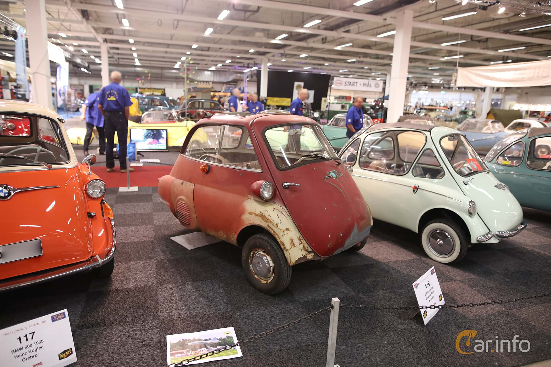 Front/Side  of BMW Isetta 300  Manual, 14ps, 1959 at Bilsport Performance & Custom Motor Show 2017