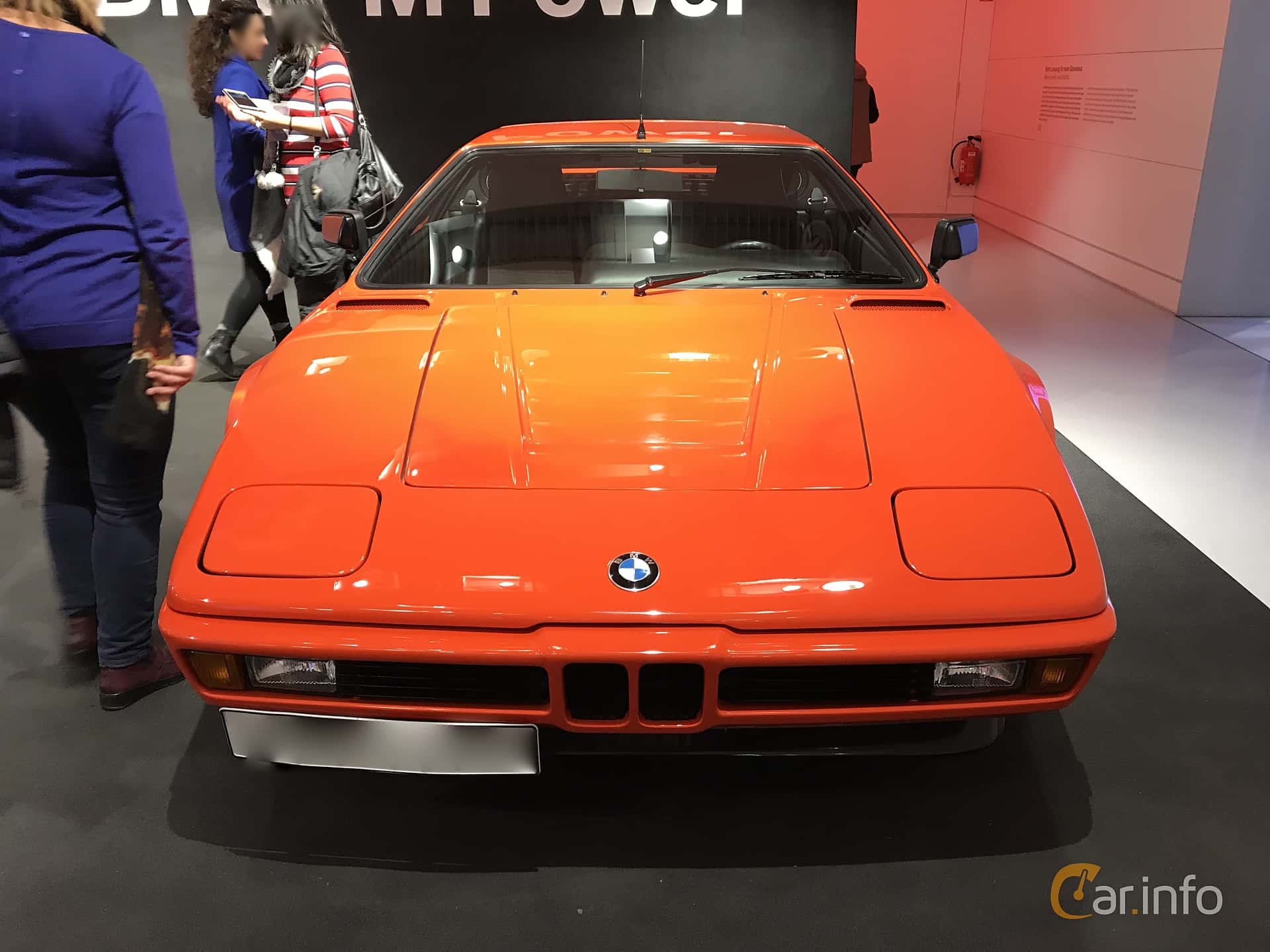 Front  of BMW M1 3.5 Manual, 277ps, 1979