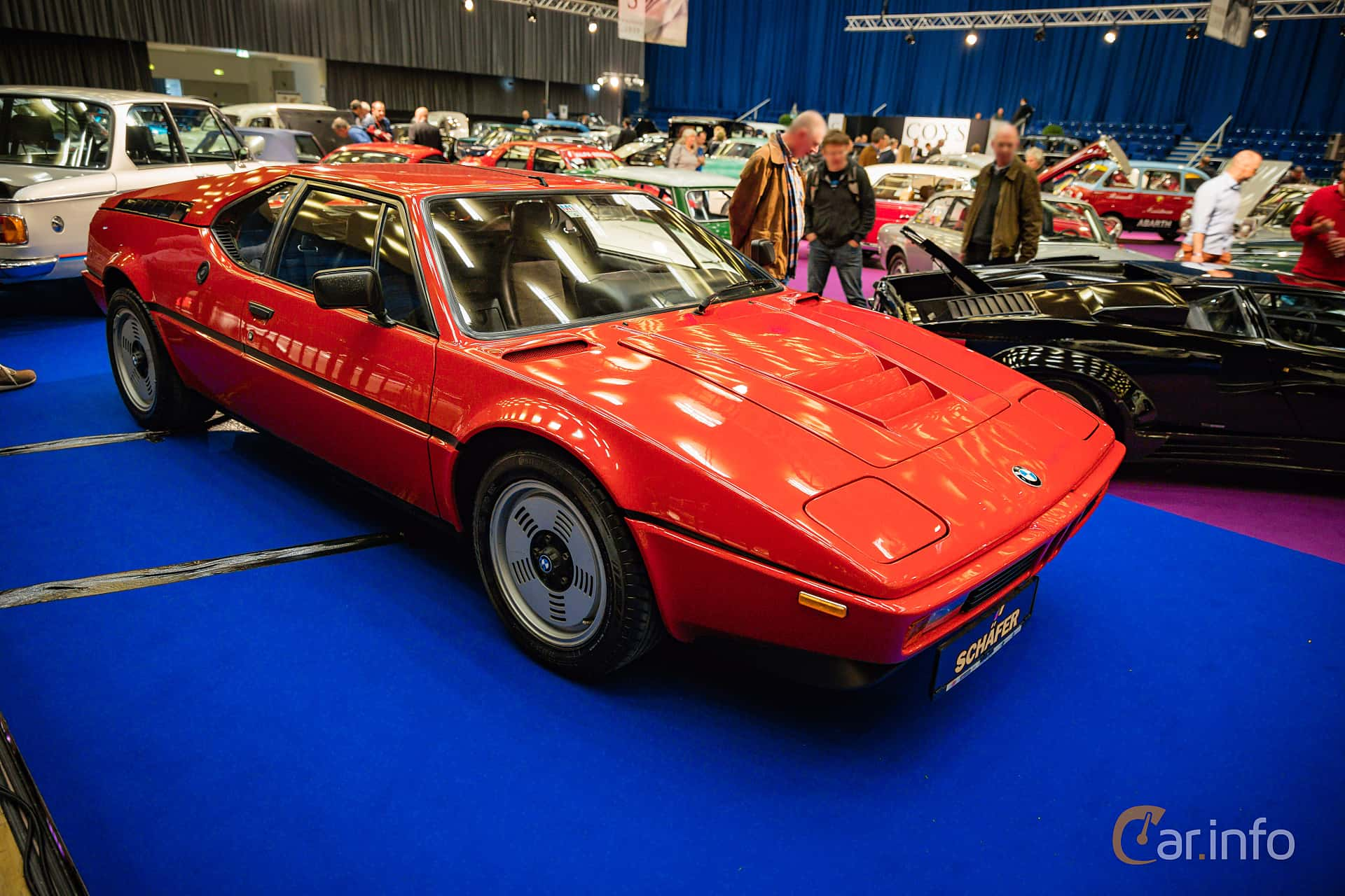 Front/Side  of BMW M1 3.5 Manual, 277ps, 1979 at Techno Classica Essen 2016