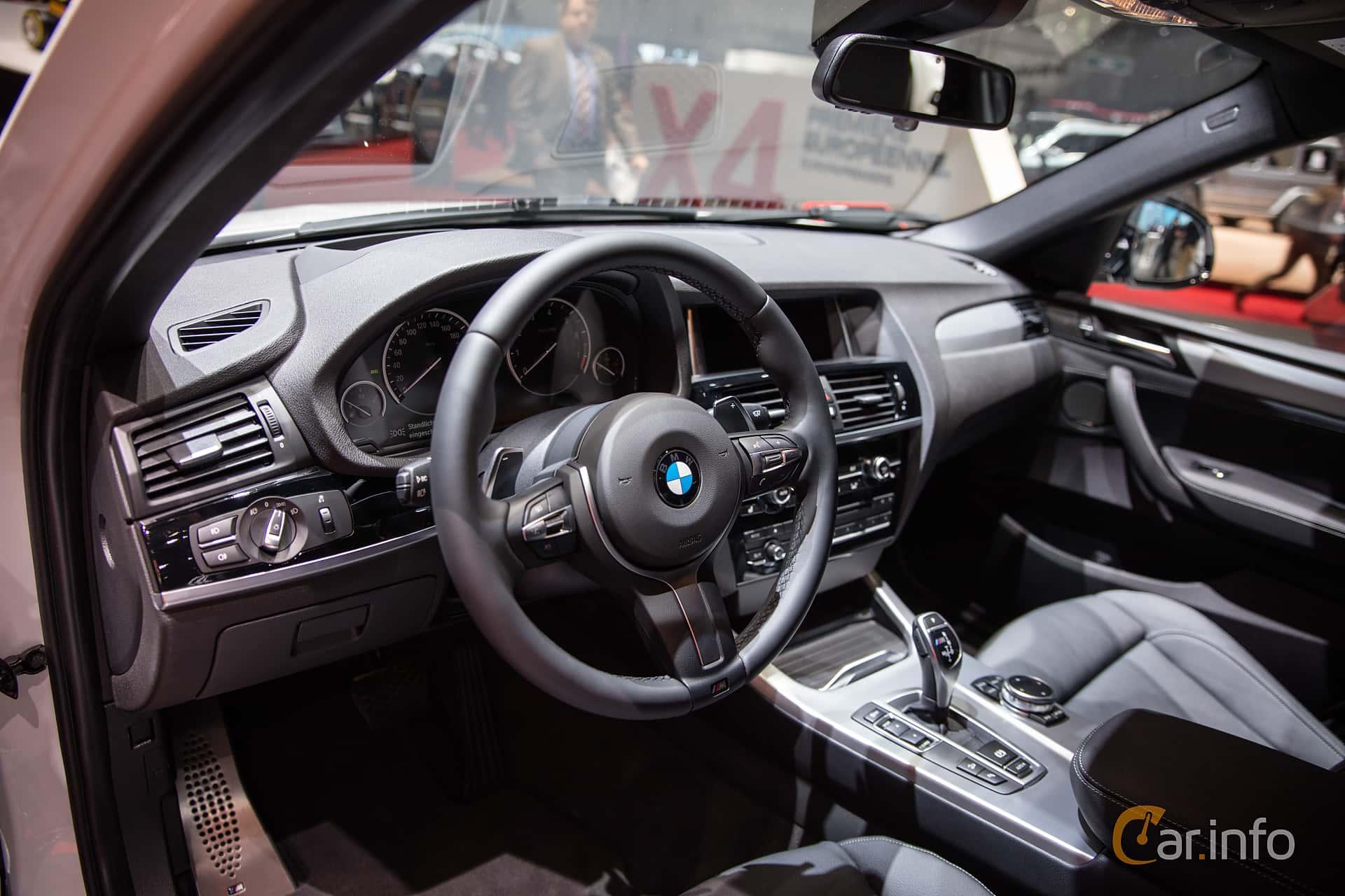 Interior Of BMW X4 2016 At Geneva Motor Show