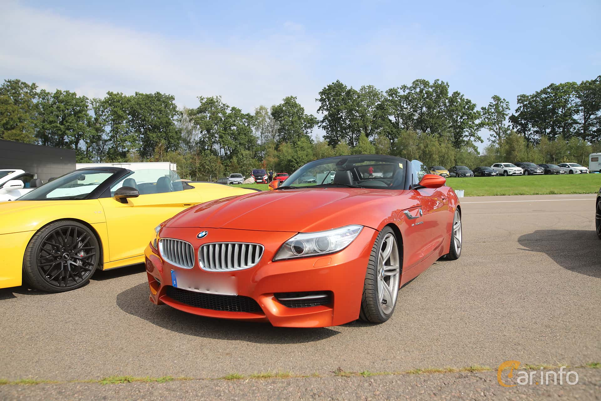 Front/Side  of BMW Z4 sDrive35is  DCT, 340ps, 2015 at Autoropa Racing day Knutstorp 2019