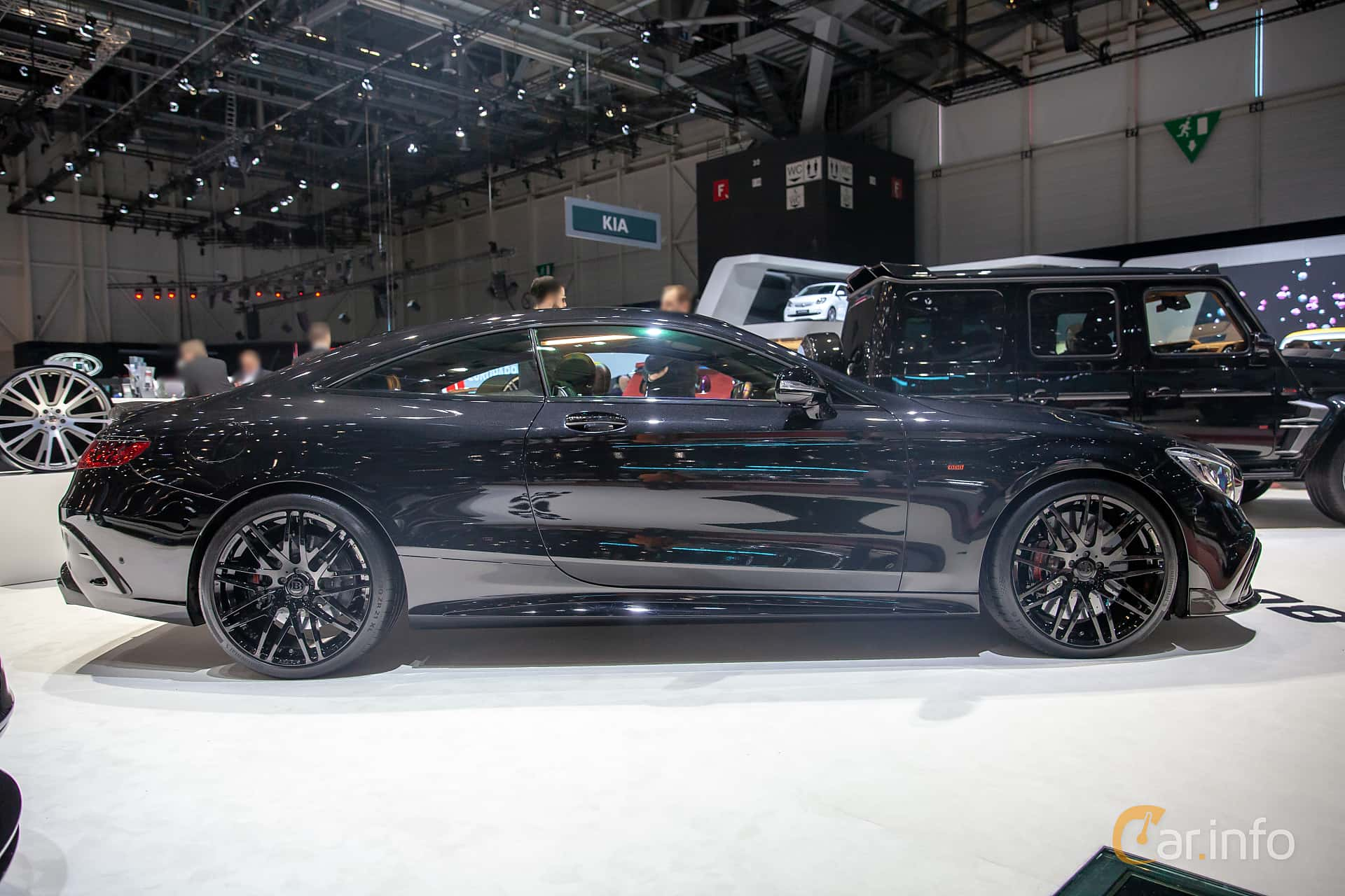 Side  of Brabus S 800 Coupé  , 800ps, 2019 at Geneva Motor Show 2019