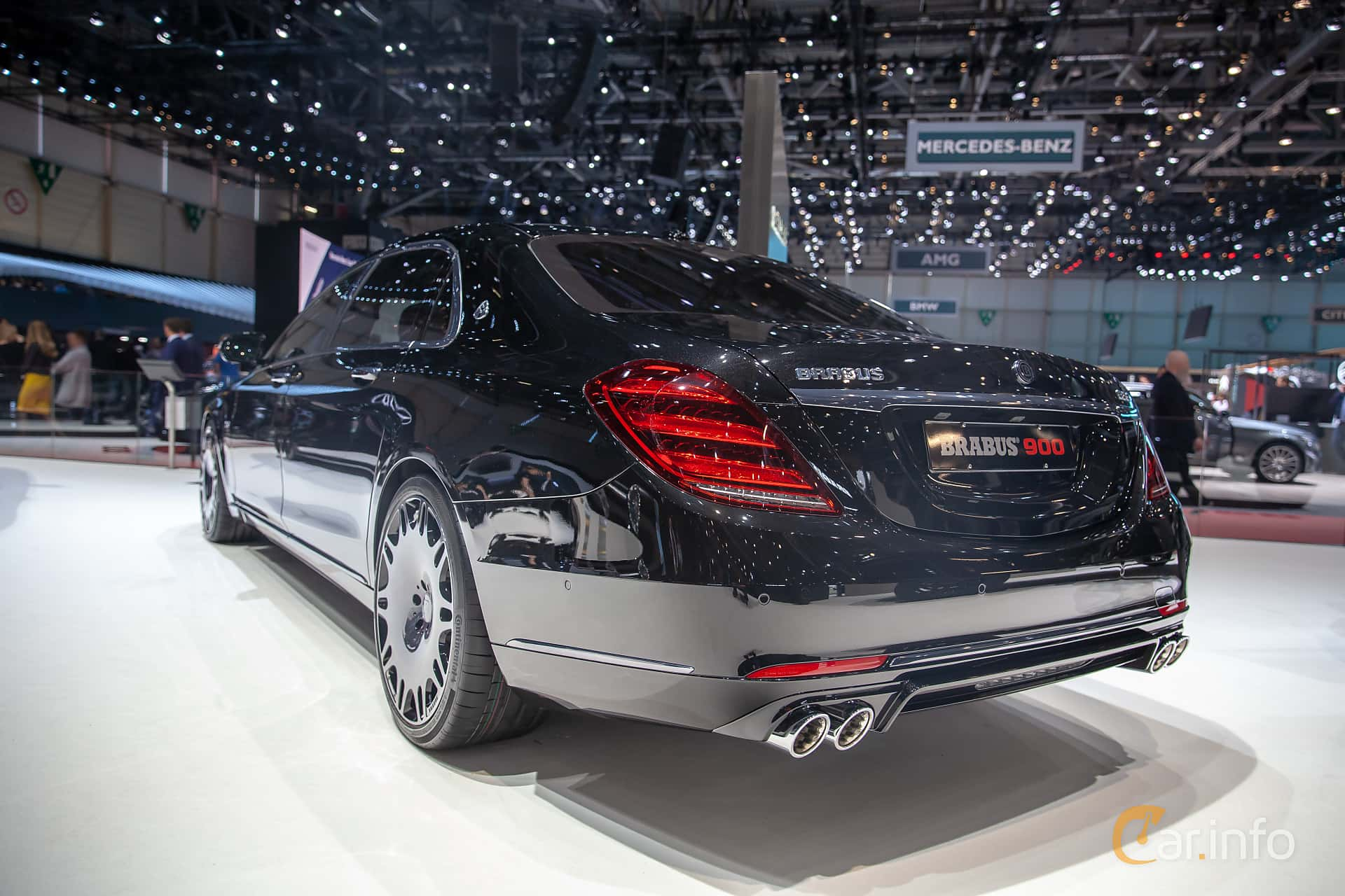 Back/Side of Brabus S 900 Maybach  9G-Tronic, 900ps, 2019 at Geneva Motor Show 2019