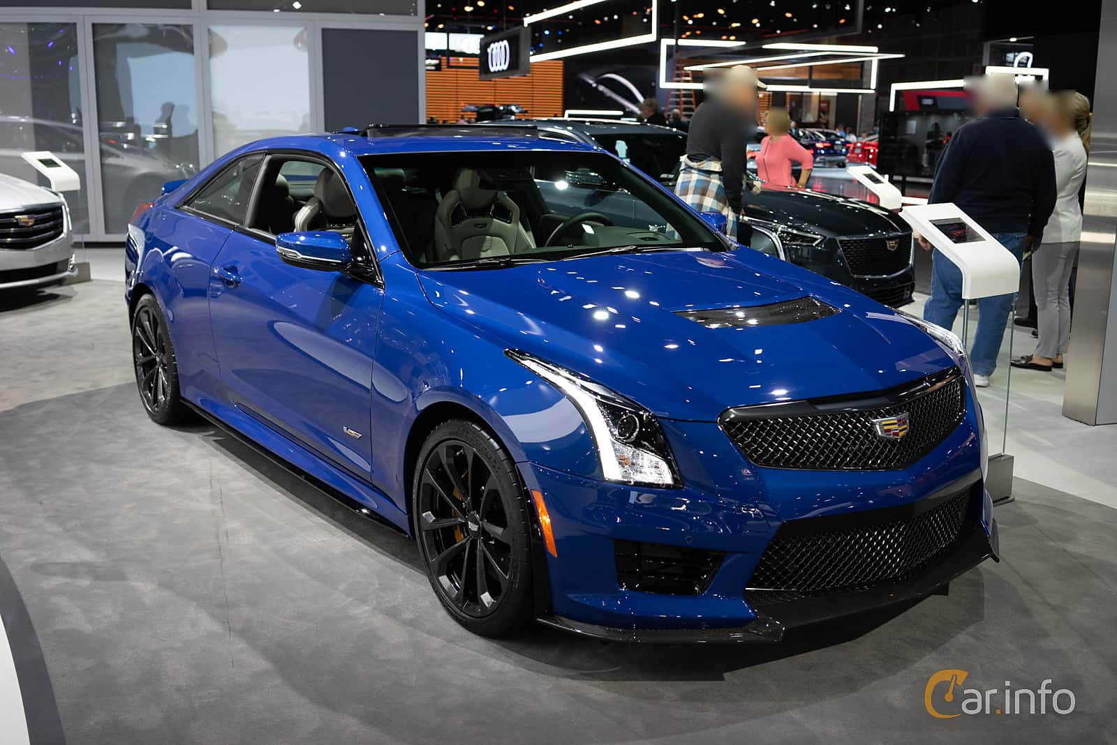 Front/Side  of Cadillac ATS-V Coupé 3.6 V6 470ps, 2019 at LA Motor Show 2018