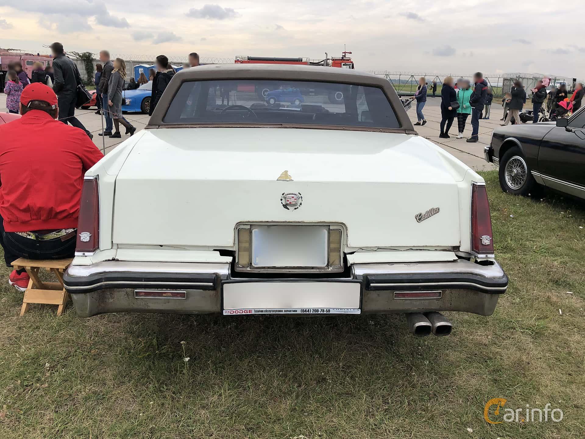 Cadillac Eldorado Coupé 5.7 V8 Automatic, 106hp, 1983 at Old Car Land no.2 2019