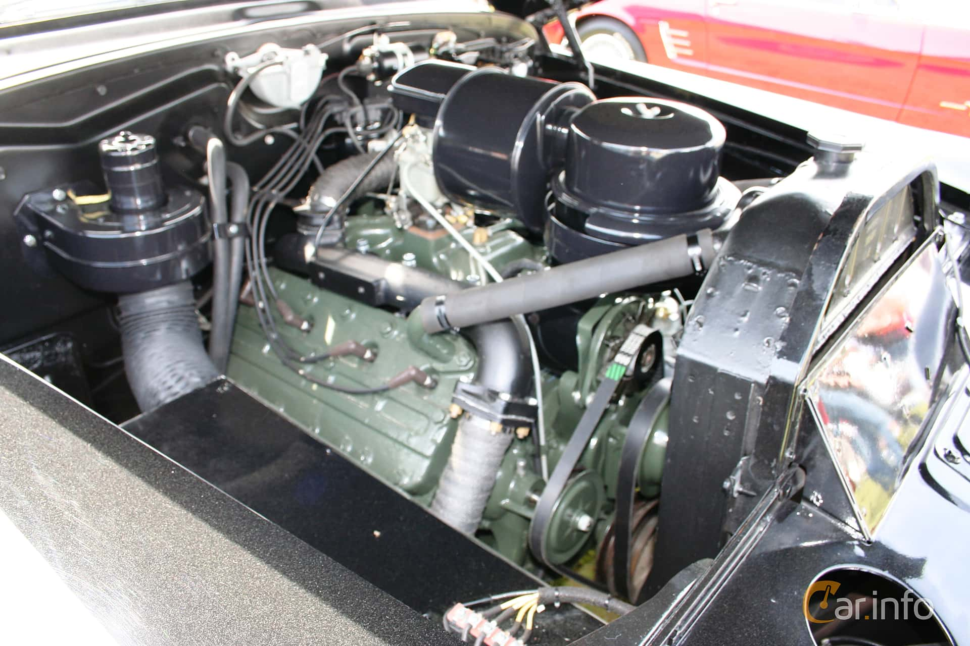 3 Images Of Cadillac Sixty One Touring Sedan 54 V8 Hydra Matic 1949 Engine Compartment 162ps