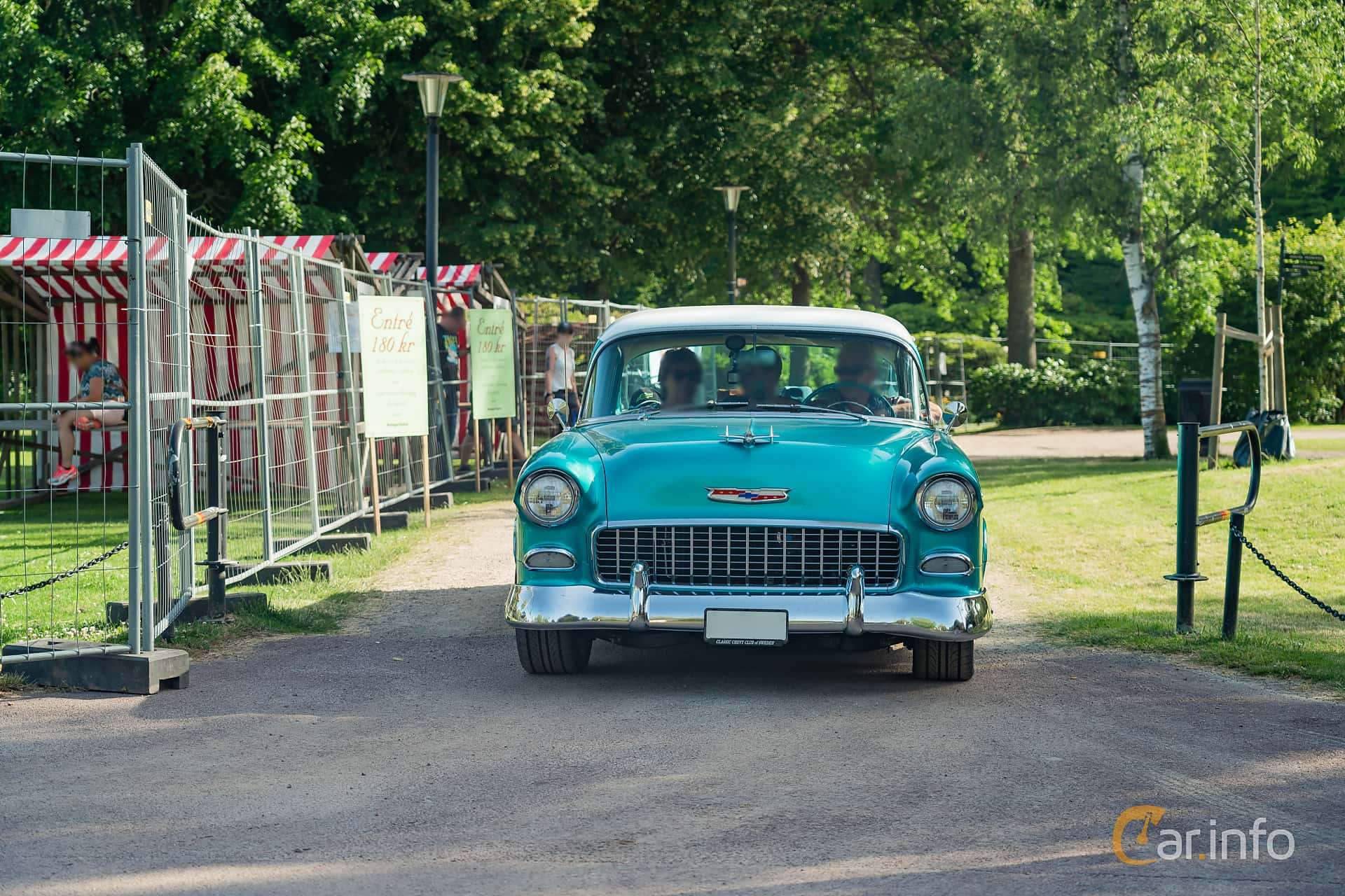 Chevrolet Two-Ten 4-dörrars Sedan 4.3 V8 Powerglide, 183hk, 1955 at Ronneby Nostalgia Festival 2019