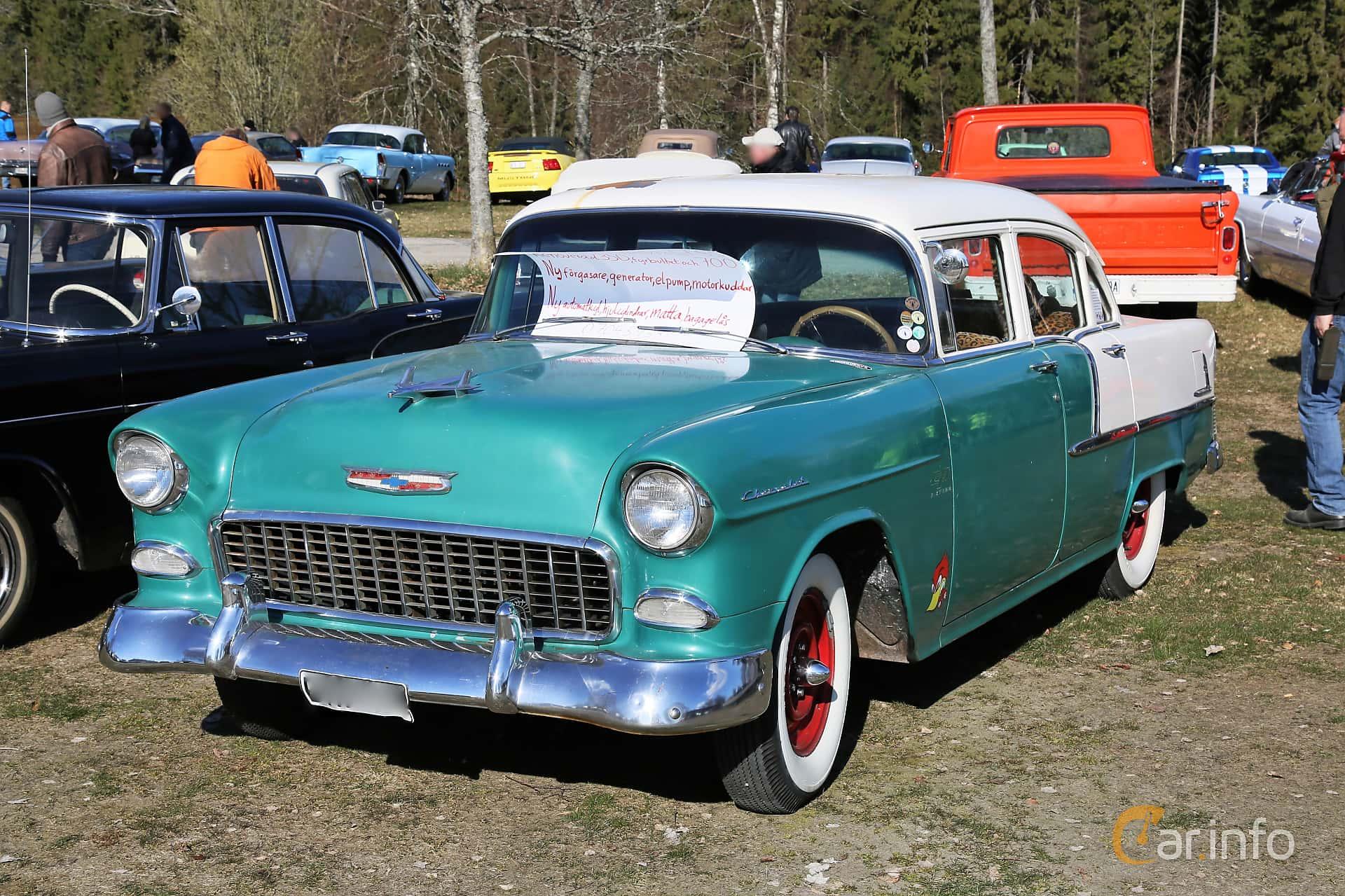 Chevrolet 210 4-door Sedan 3.9 Powerglide, 138hp, 1955 at Uddevalla Veteranbilsmarknad Backamo, Ljungsk 2019