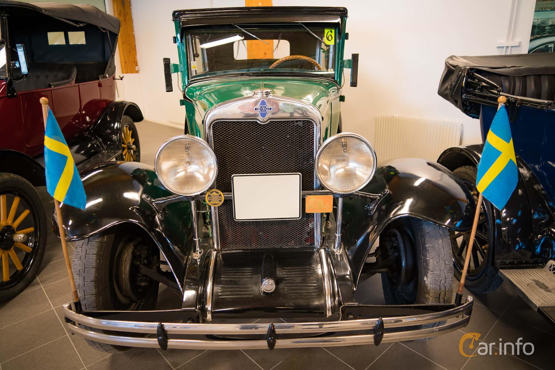 Front  of Chevrolet International Coach 3.2 Manual, 47ps, 1929 at Härnösands bilmuseum 2016