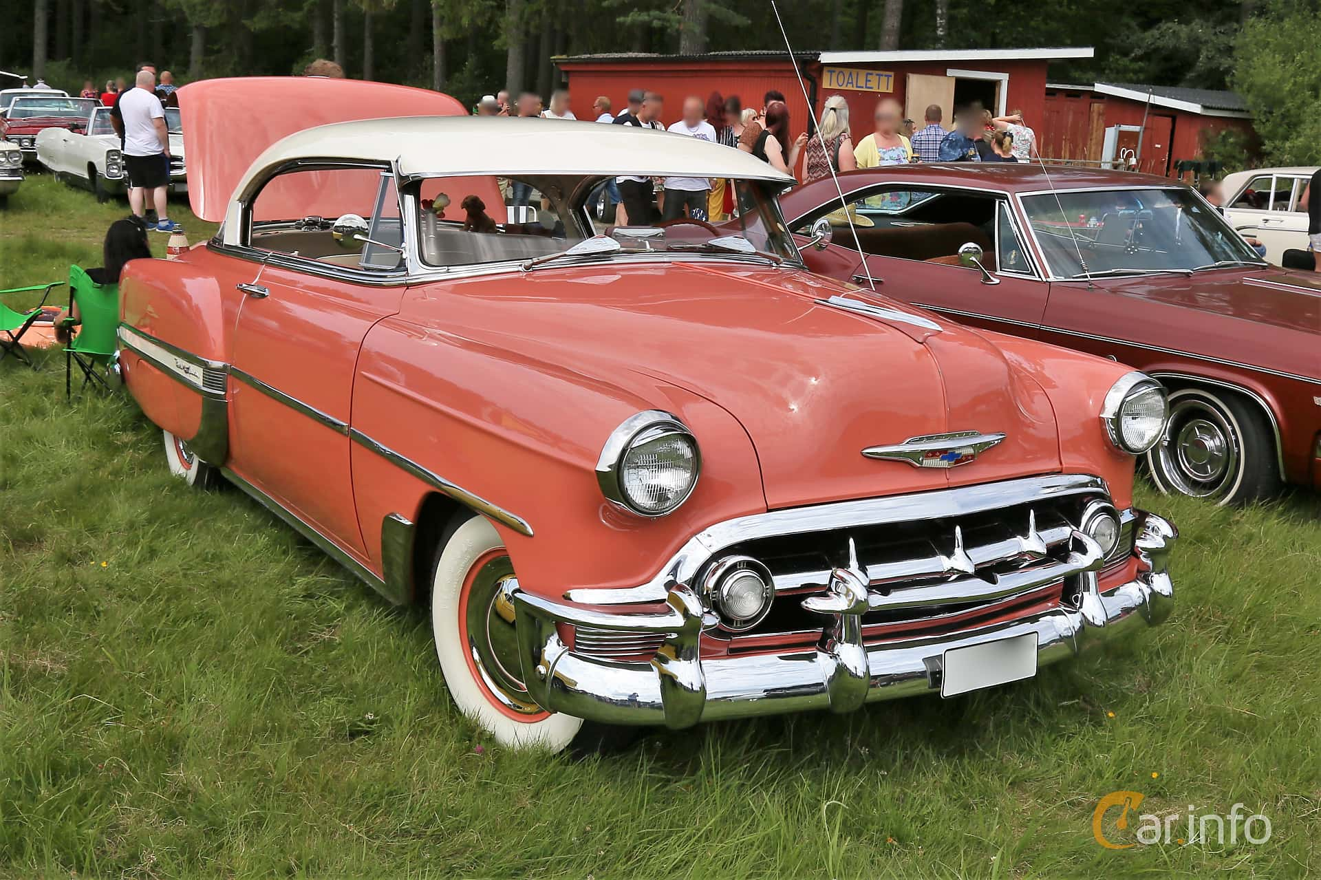 Front/Side  of Chevrolet Bel Air Sport Coupé 3.9 Manual, 110ps, 1953