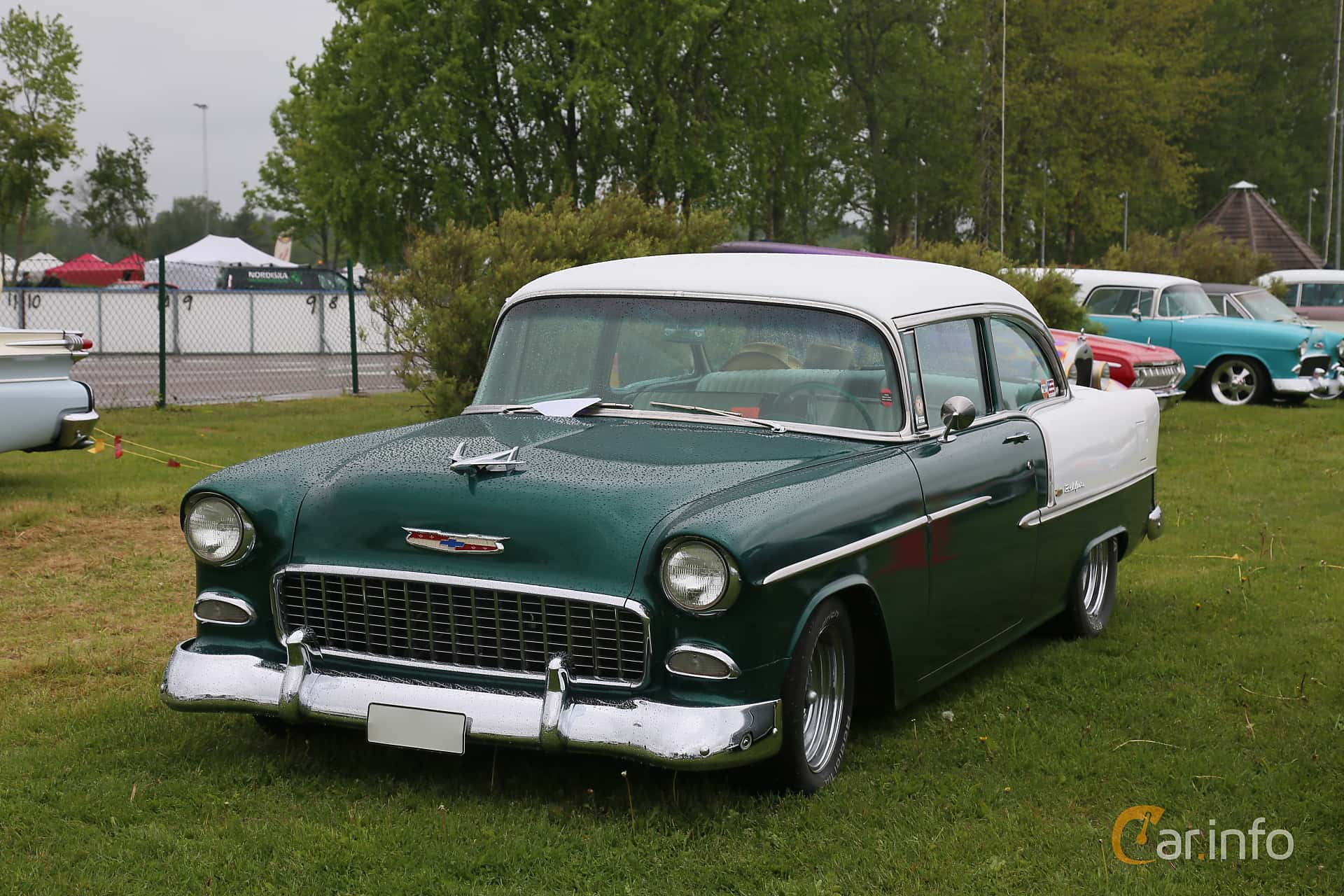 Chevrolet Bel Air 2-door Sedan 4.3 V8 Powerglide, 183hp, 1955 at Nossebro Motorlördag  2019