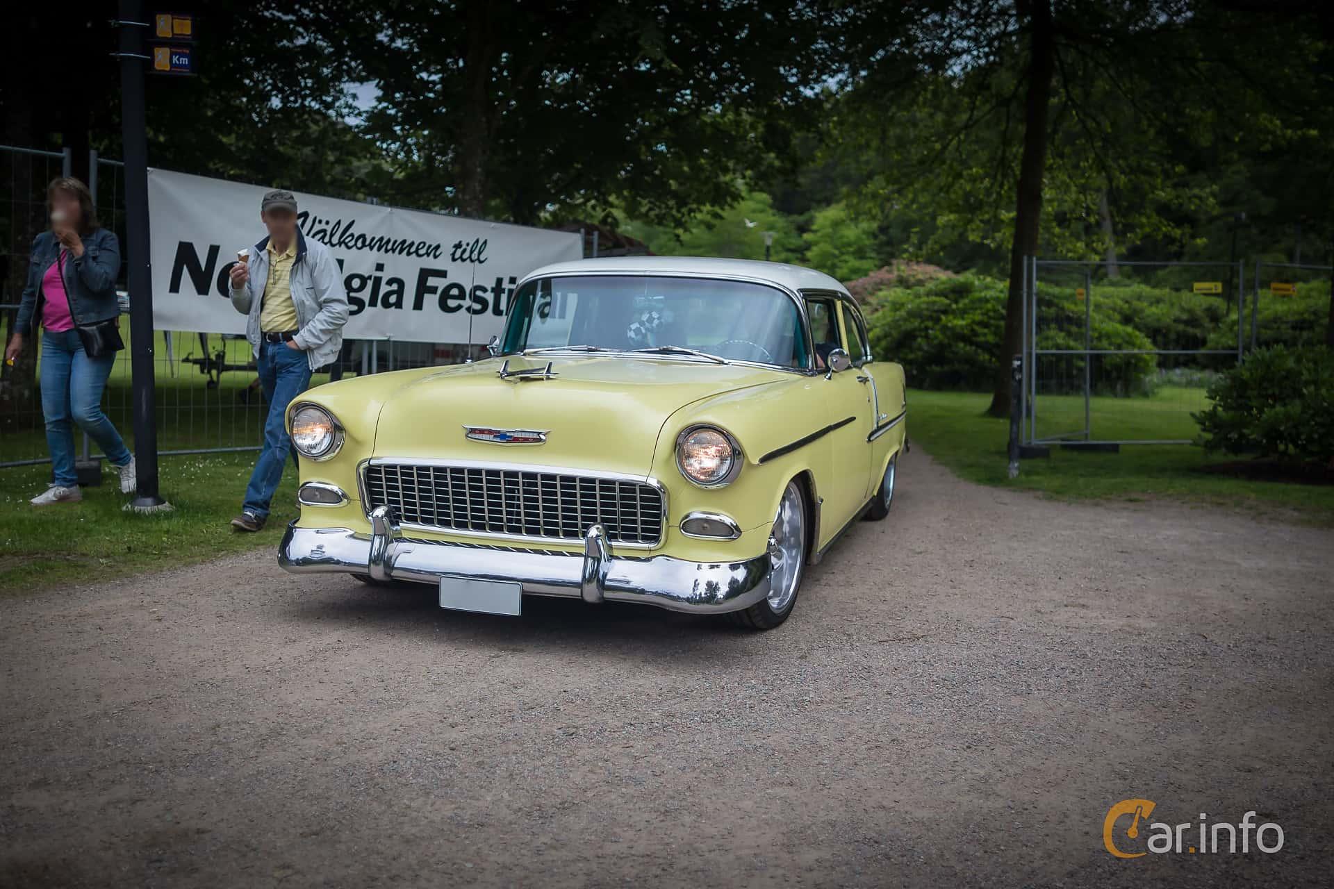 Chevrolet Bel Air 2-door Sedan 4.3 V8 Powerglide, 183hp, 1955 at Ronneby Nostalgia Festival 2015