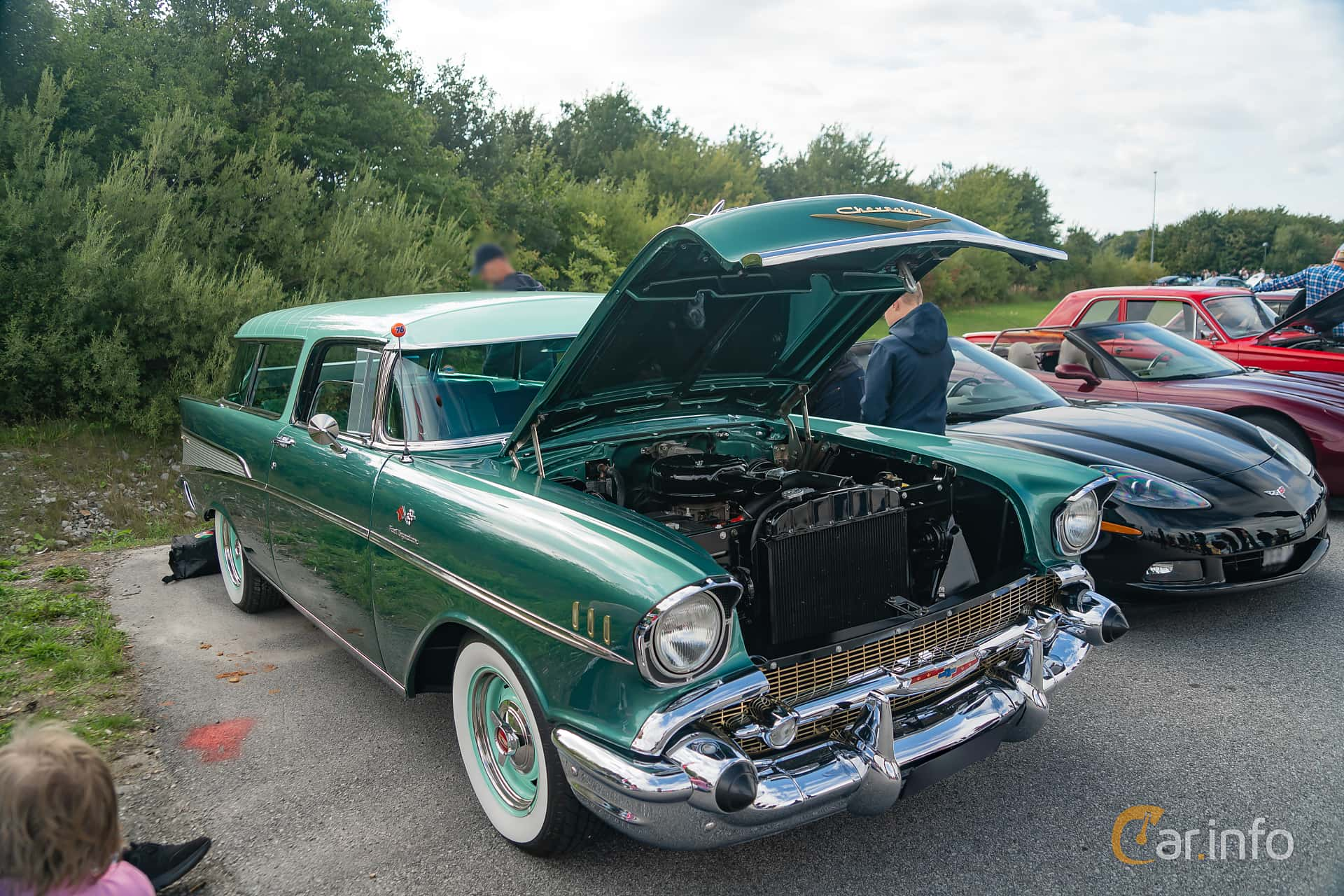 5 Images Of Chevrolet Bel Air Nomad 46 V8 Fi Manual 287hp 1957 By Chevy Front Side 287ps