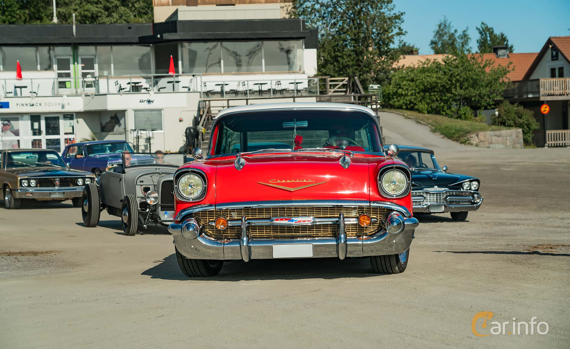 Chevrolet Bel Air Nomad 4.6 V8 Powerglide, 223hp, 1957 at Stockholm Vintage & Sports Car meet 2019