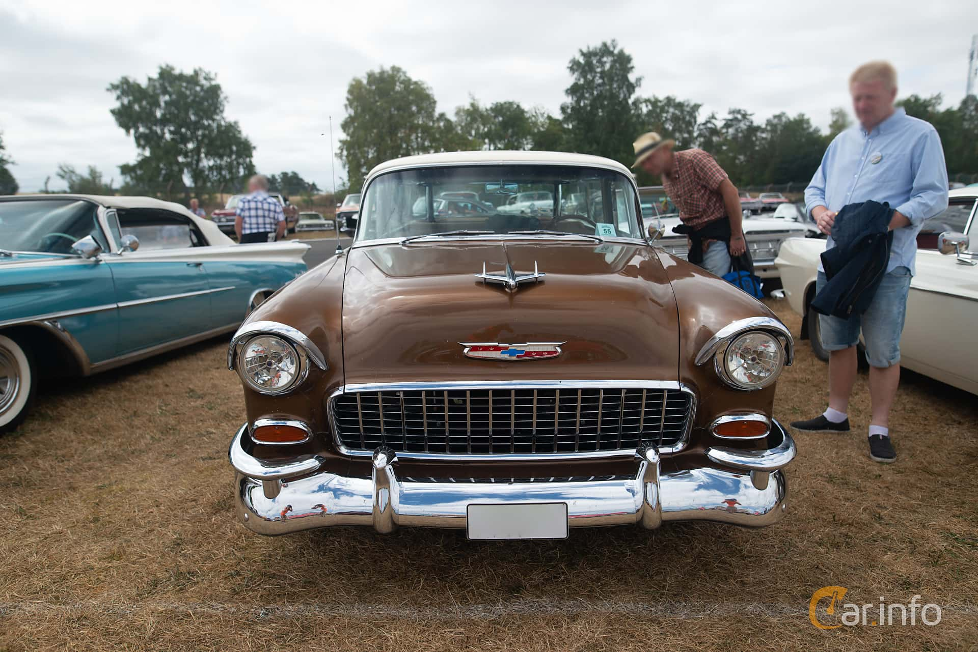 Chevrolet Bel Air Nomad 4.3 V8 Powerglide, 183hp, 1955 at Wheels & Wings 2018