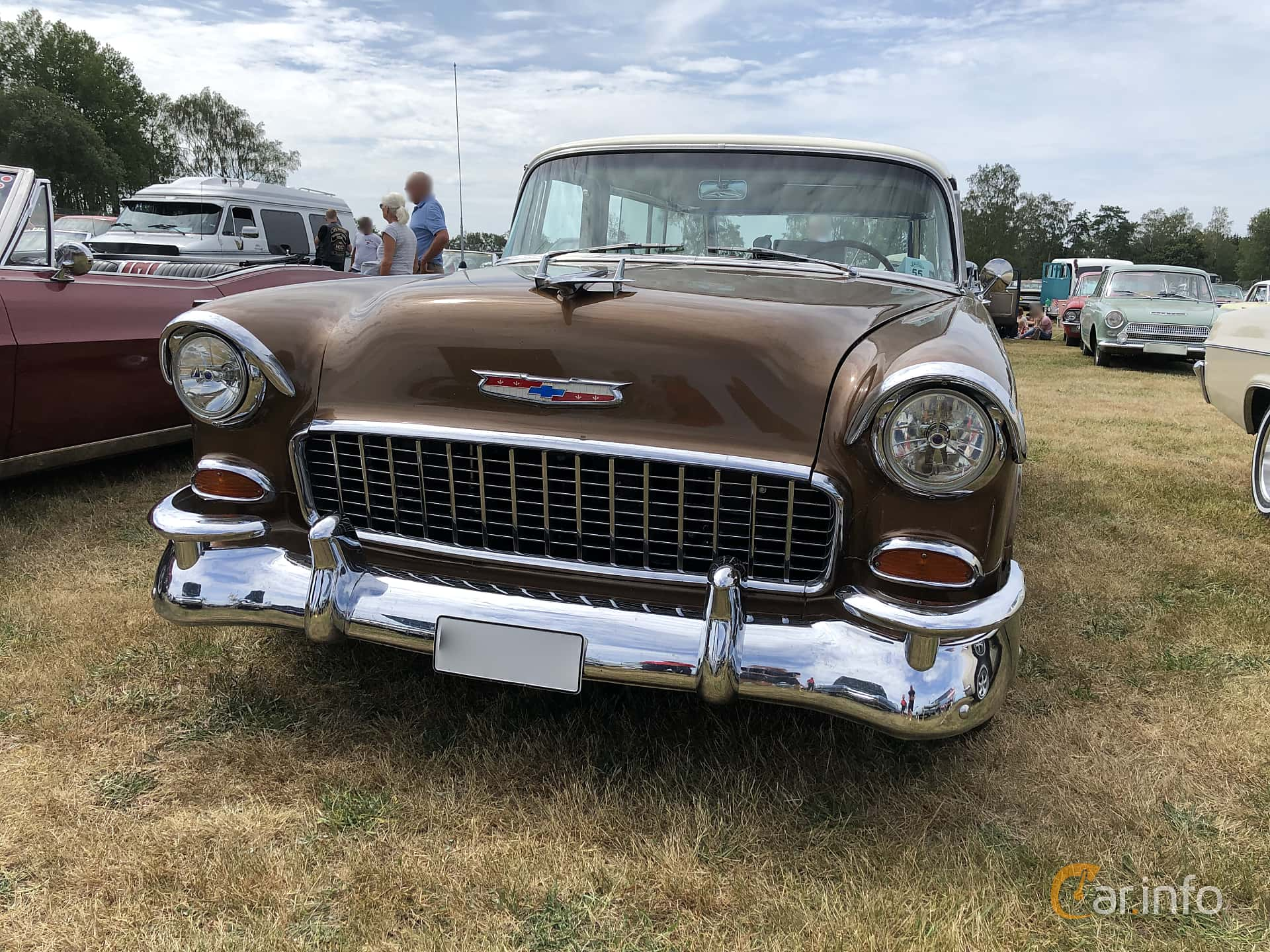 Chevrolet Bel Air Nomad 4.3 V8 Powerglide, 183hp, 1955 at Wheels & Wings 2019