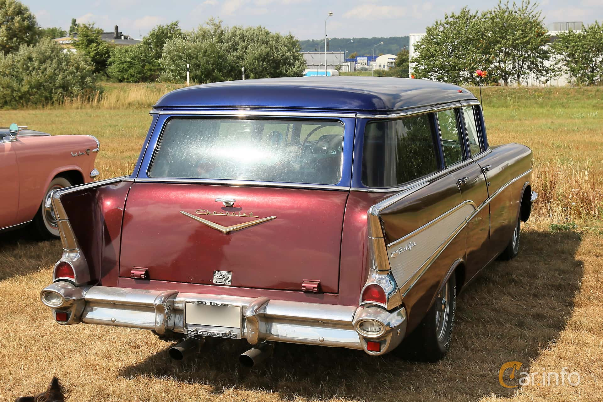 1 Images Of Chevrolet Bel Air Townsman 46 V8 Powerglide 188hp 1957 Chevy Station Wagon Back Side 188ps At