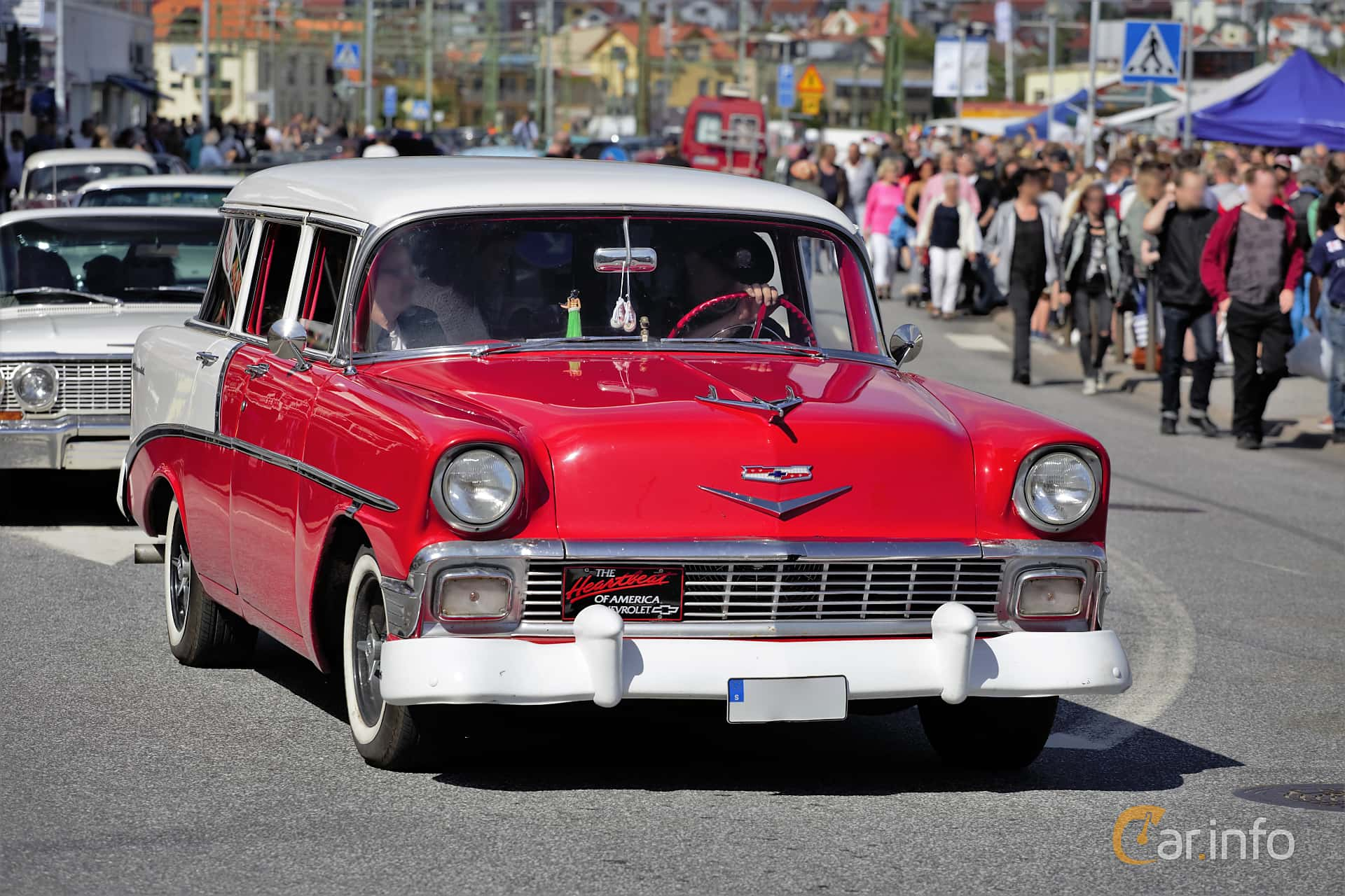 Chevrolet Bel Air Beauville 3.9 Manual, 142hp, 1956 at Cruising Lysekil 2017