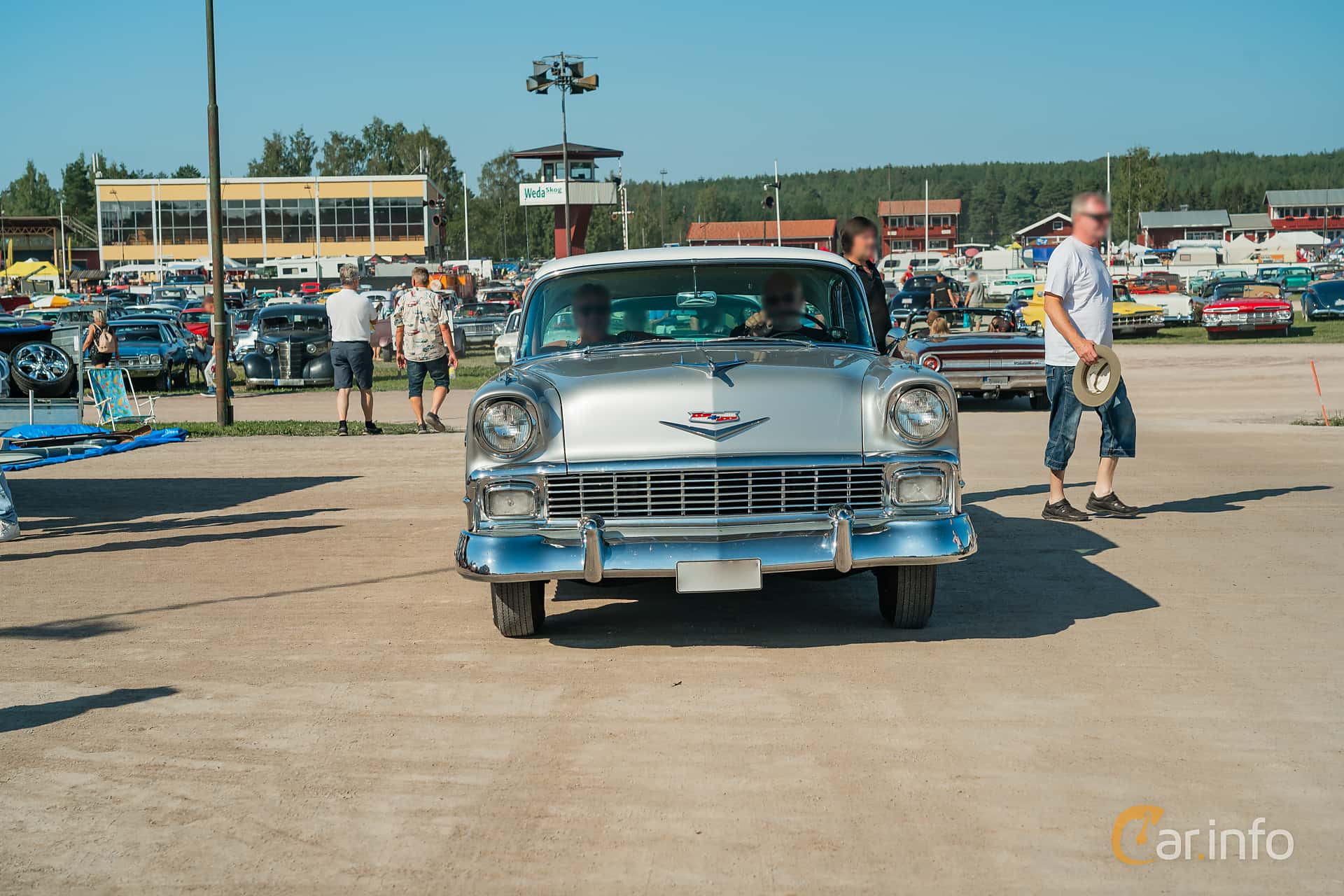 Chevrolet Bel Air Sport Sedan 4.3 V8 Powerglide, 173hp, 1956 at Classic Car Week Rättvik 2019 vecka 31
