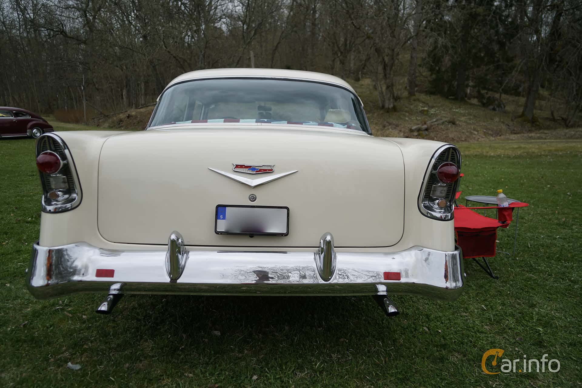 Chevrolet Bel Air 4-door Sedan 4.3 V8 Powerglide, 173hp, 1956 at Classic Cars Sunby Gård 2017