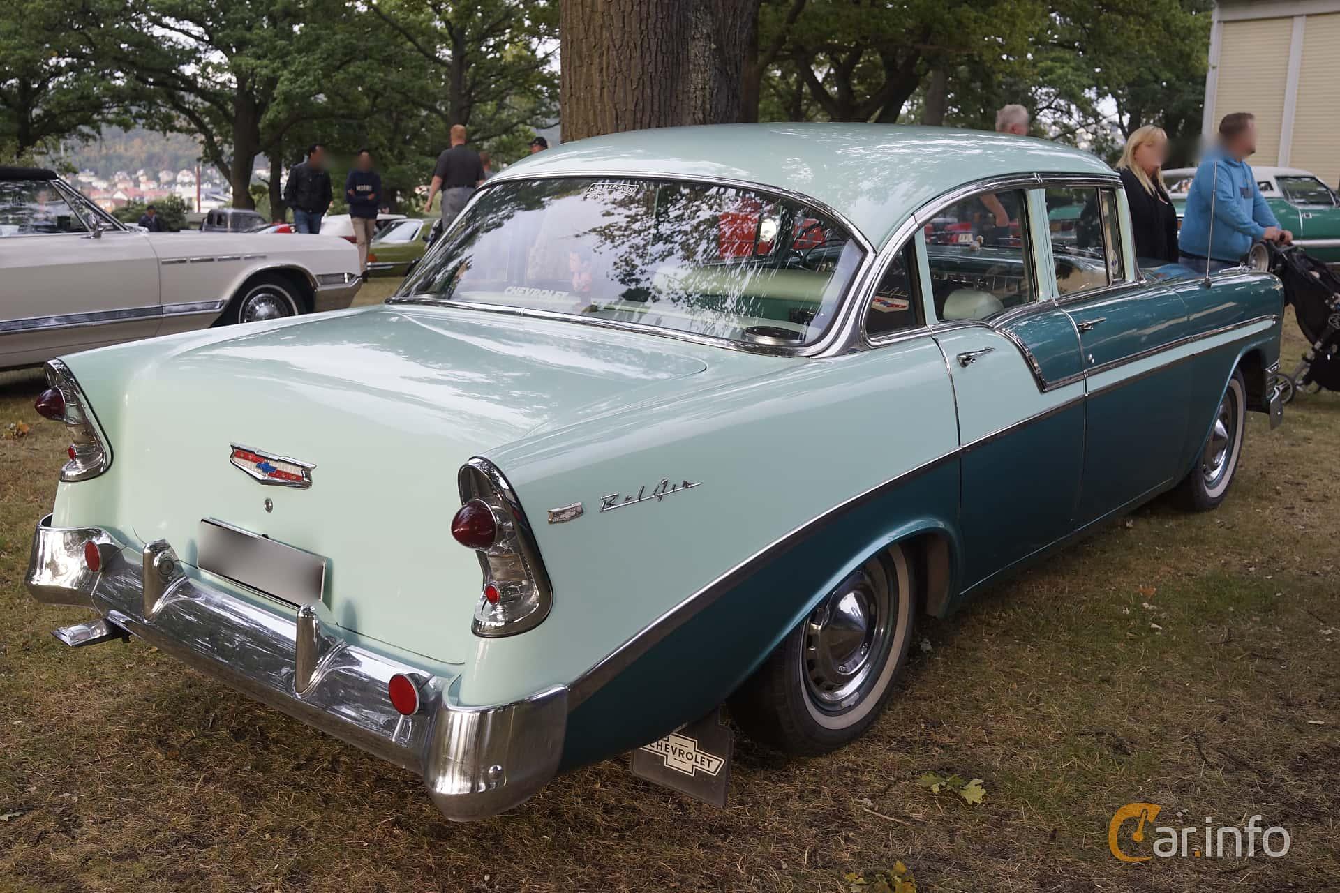 Chevrolet Bel Air 4-door Sedan 3.9 Powerglide, 142hp, 1956 at Bil & MC-träffar i Huskvarna Folkets Park v.35 - 2015