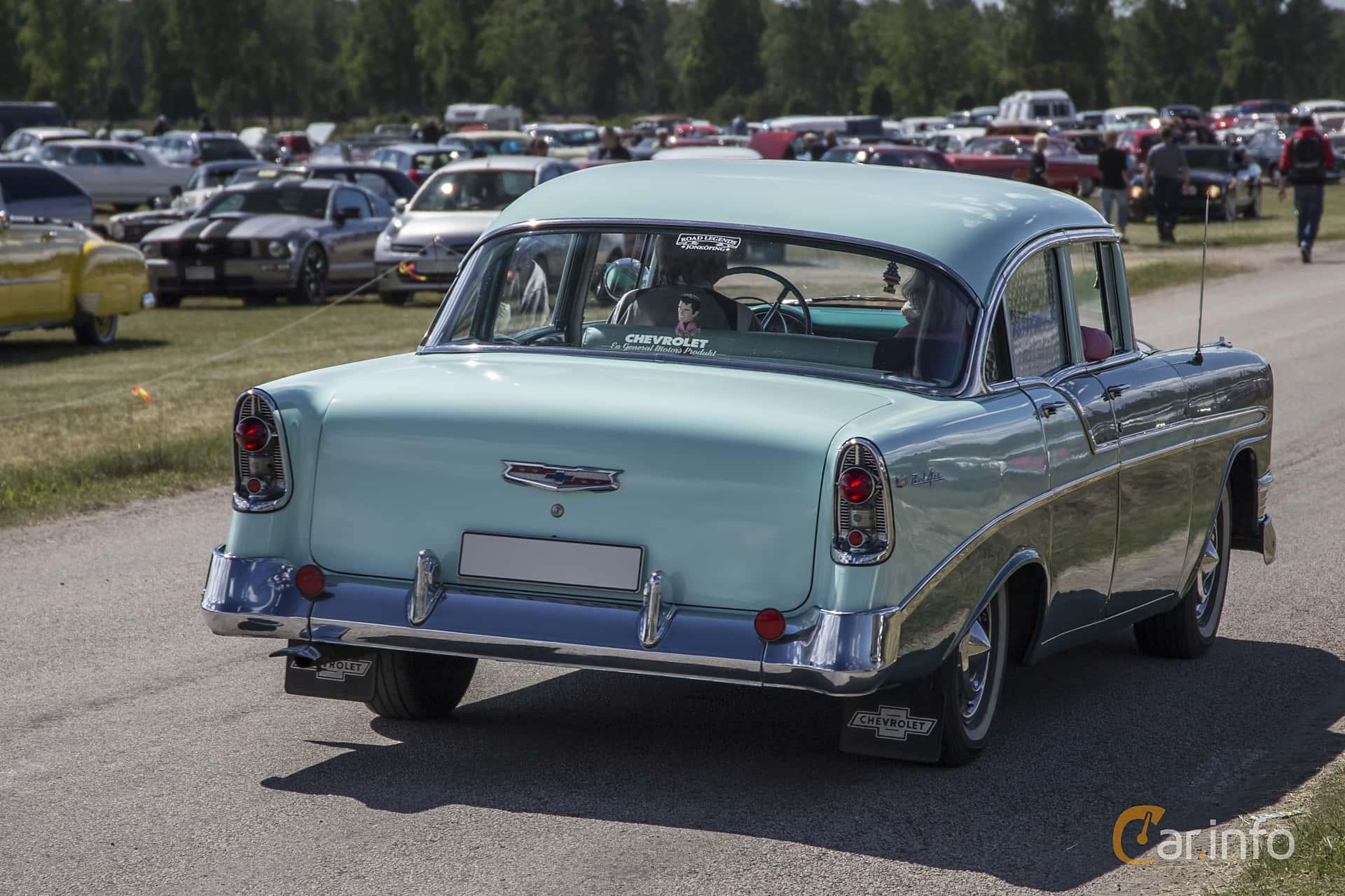 Chevrolet Bel Air 4-door Sedan 3.9 Powerglide, 142hp, 1956 at Nostalgifestivalen i Vårgårda 2016