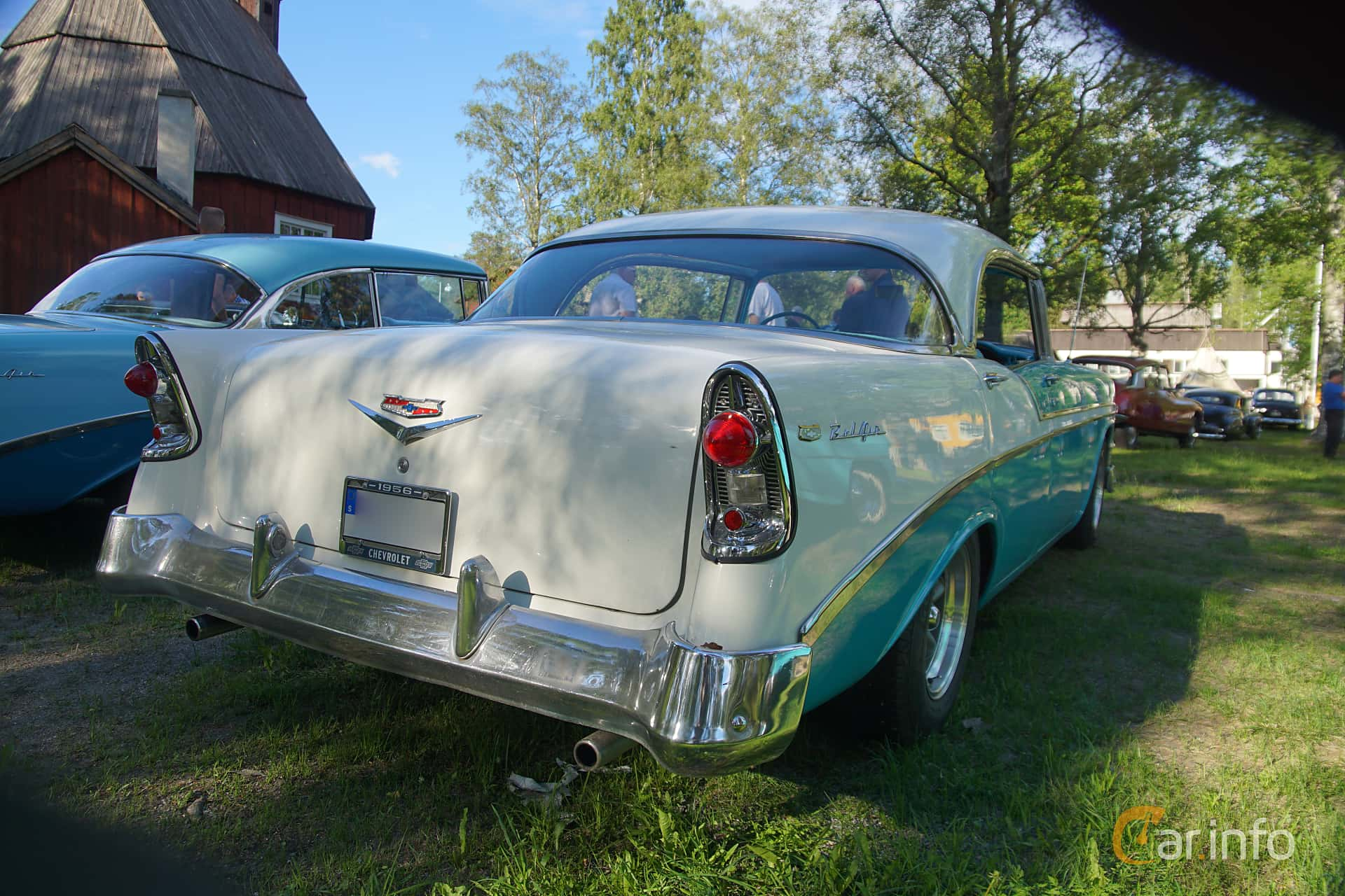 Chevrolet Bel Air Sport Sedan 4.3 V8 Manual, 165hp, 1956 at Onsdagsträffar på Gammlia Umeå 2019 vecka 25