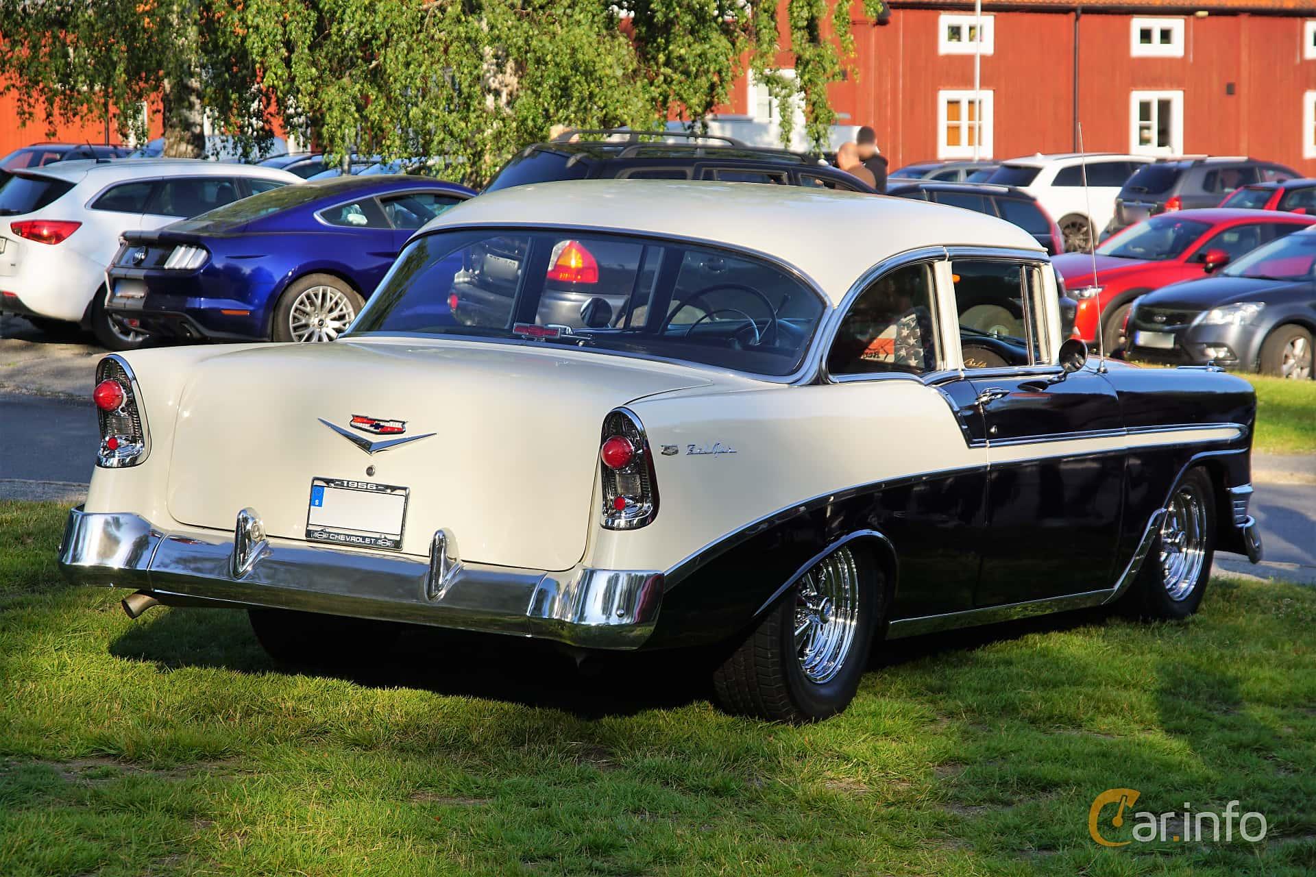 Chevrolet Bel Air 2-door Sedan 4.3 V8 Powerglide, 228hp, 1956 at Onsdagsträffar på Gammlia Umeå 2019 vecka 28