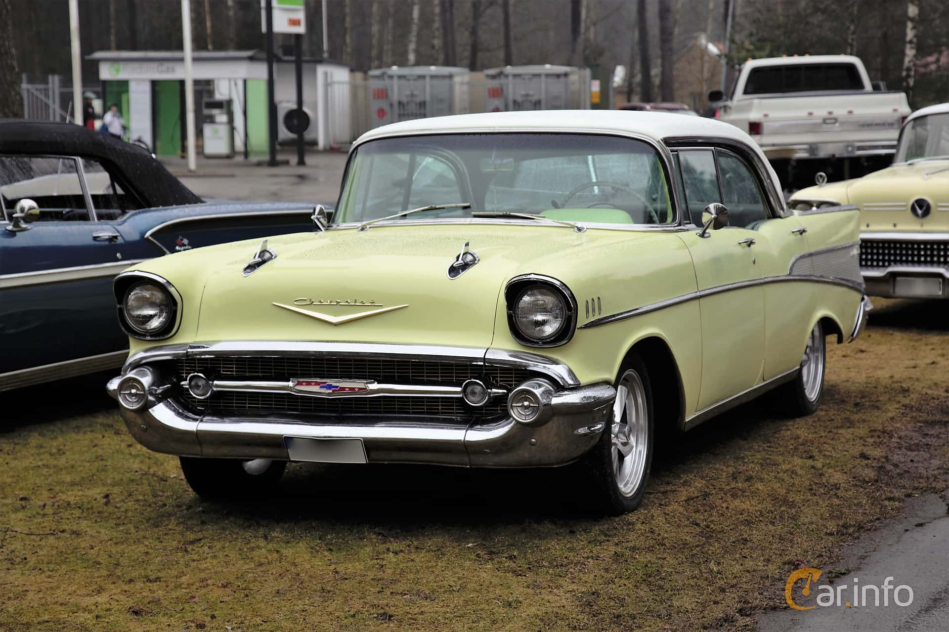 1 Images Of Chevrolet Bel Air 4 Door Sedan 46 V8 Powerglide 223hp 1957 Chevy Front Side 223ps