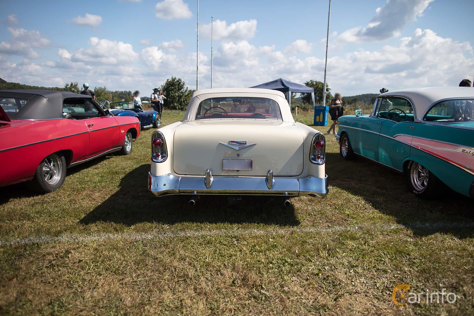 Chevrolet Bel Air Convertible 4.3 V8 Powerglide, 173hp, 1956 at Wheels & Wings 2017
