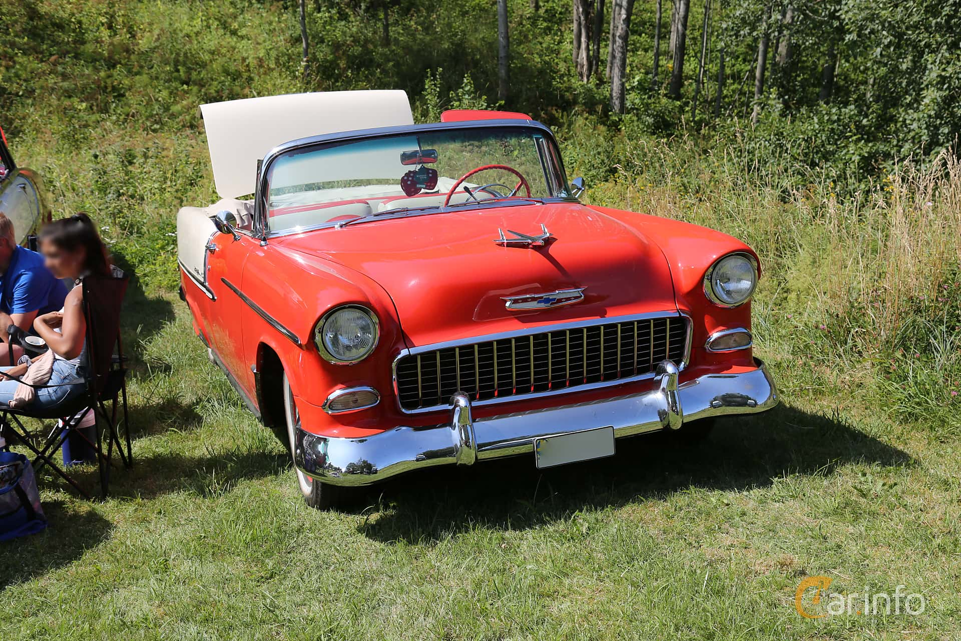 Chevrolet Bel Air Convertible 4.3 V8 Powerglide, 165hp, 1955 at A-bombers - Old Style Weekend Backamo 2019