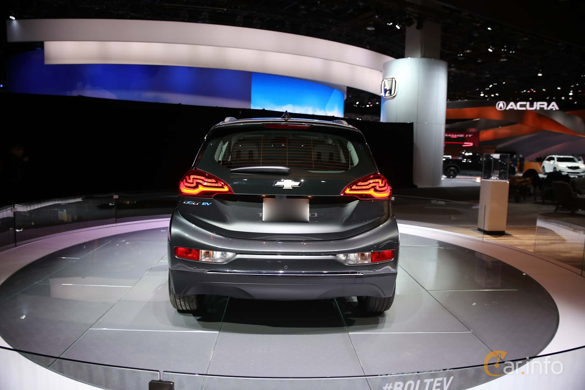 Back of Chevrolet Bolt 60 kWh Single Speed, 204ps, 2017 at North American International Auto Show 2017
