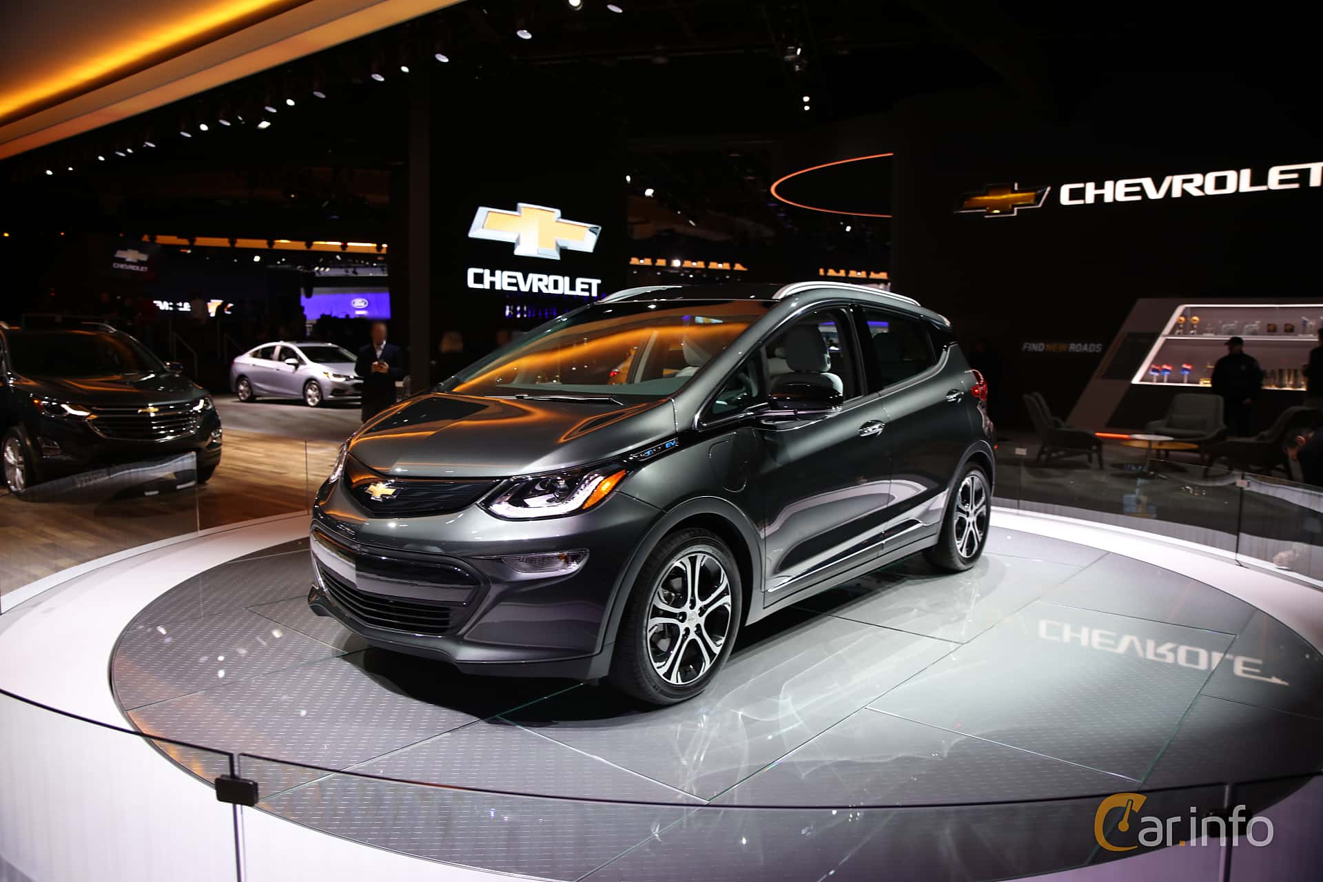 Front/Side  of Chevrolet Bolt 60 kWh Single Speed, 204ps, 2017 at North American International Auto Show 2017