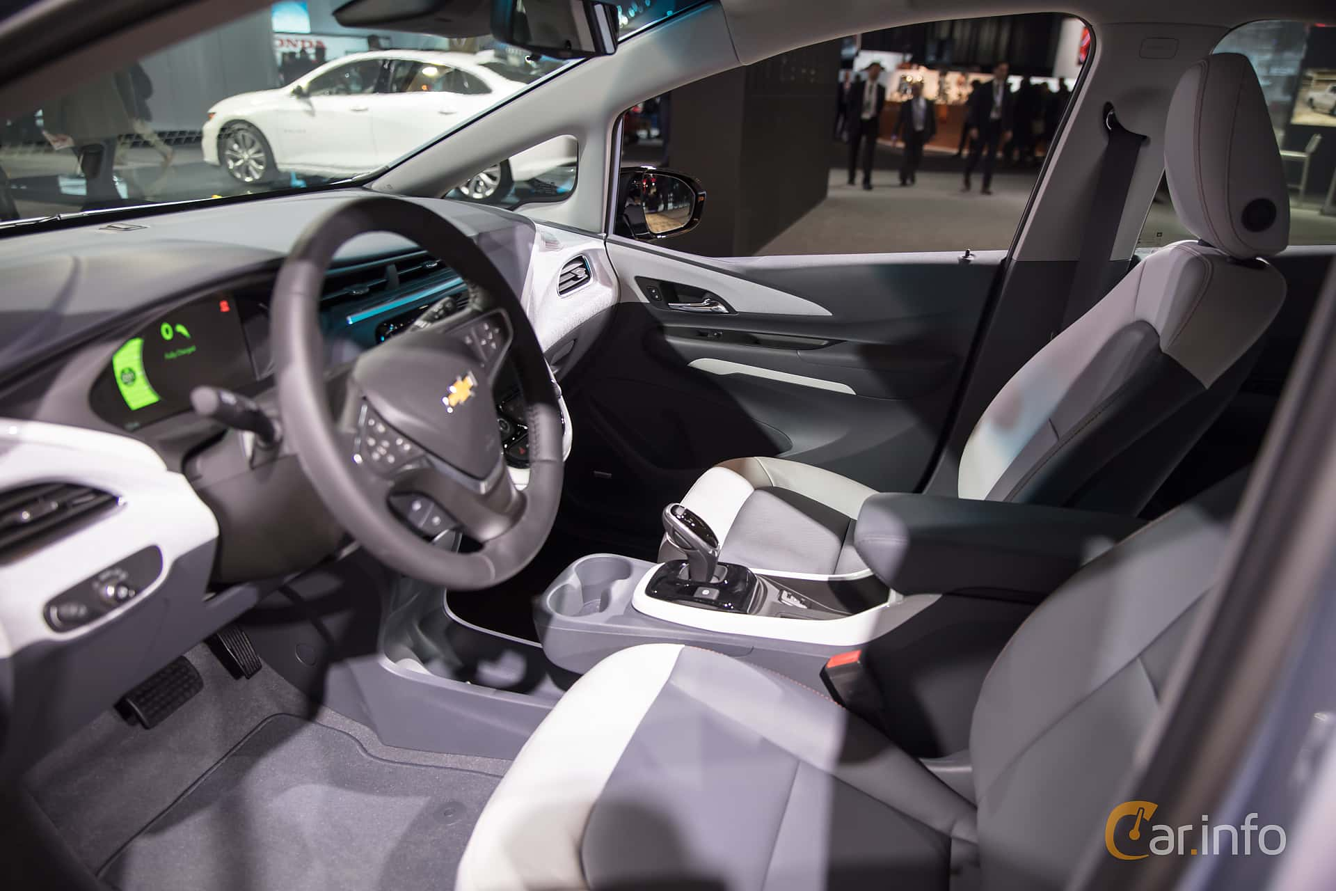 Interior of Chevrolet Bolt 60 kWh Single Speed, 204ps, 2017 at North American International Auto Show 2018