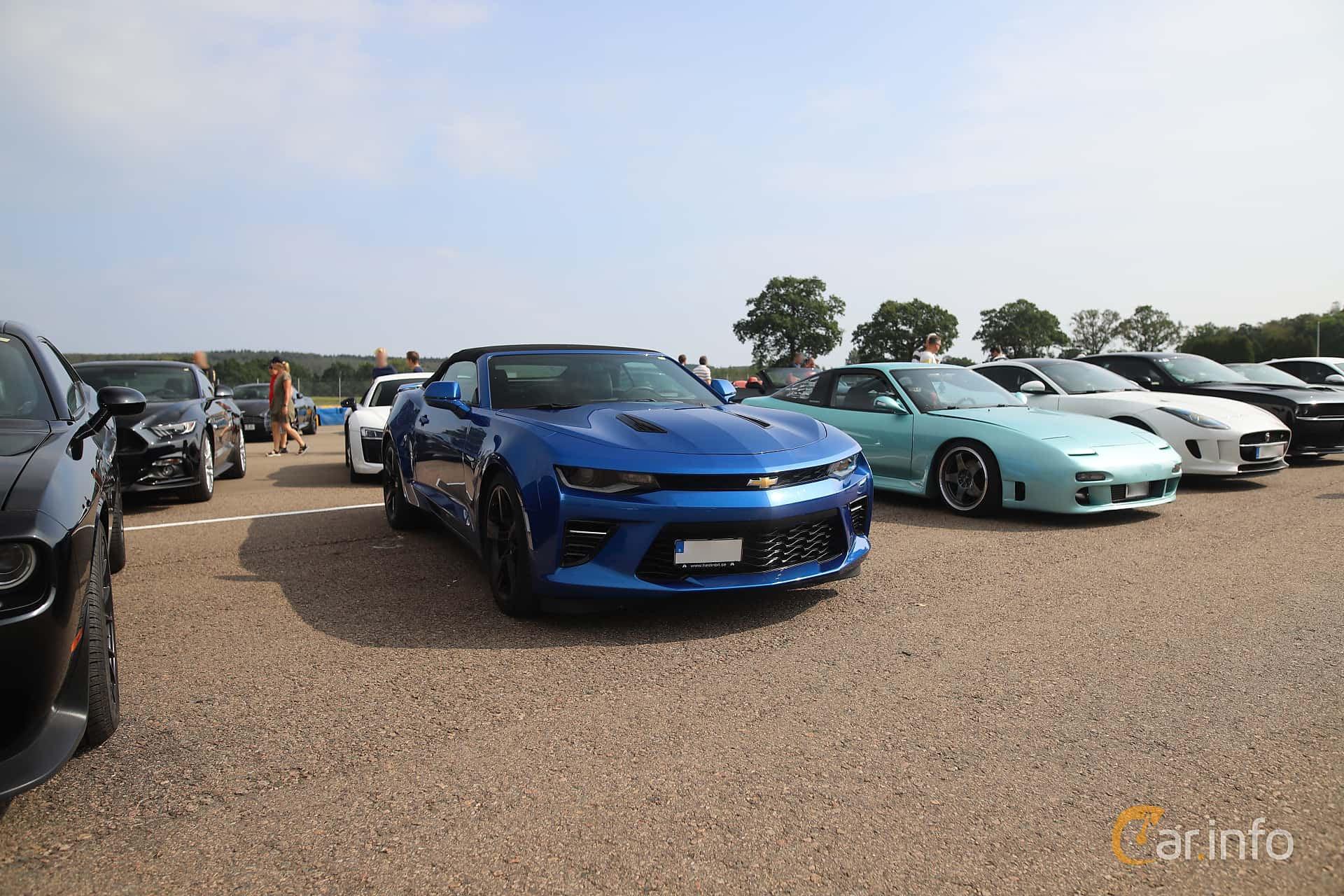 Front/Side  of Chevrolet Camaro SS Convertible  Hydra-Matic, 461ps, 2017 at Autoropa Racing day Knutstorp 2019