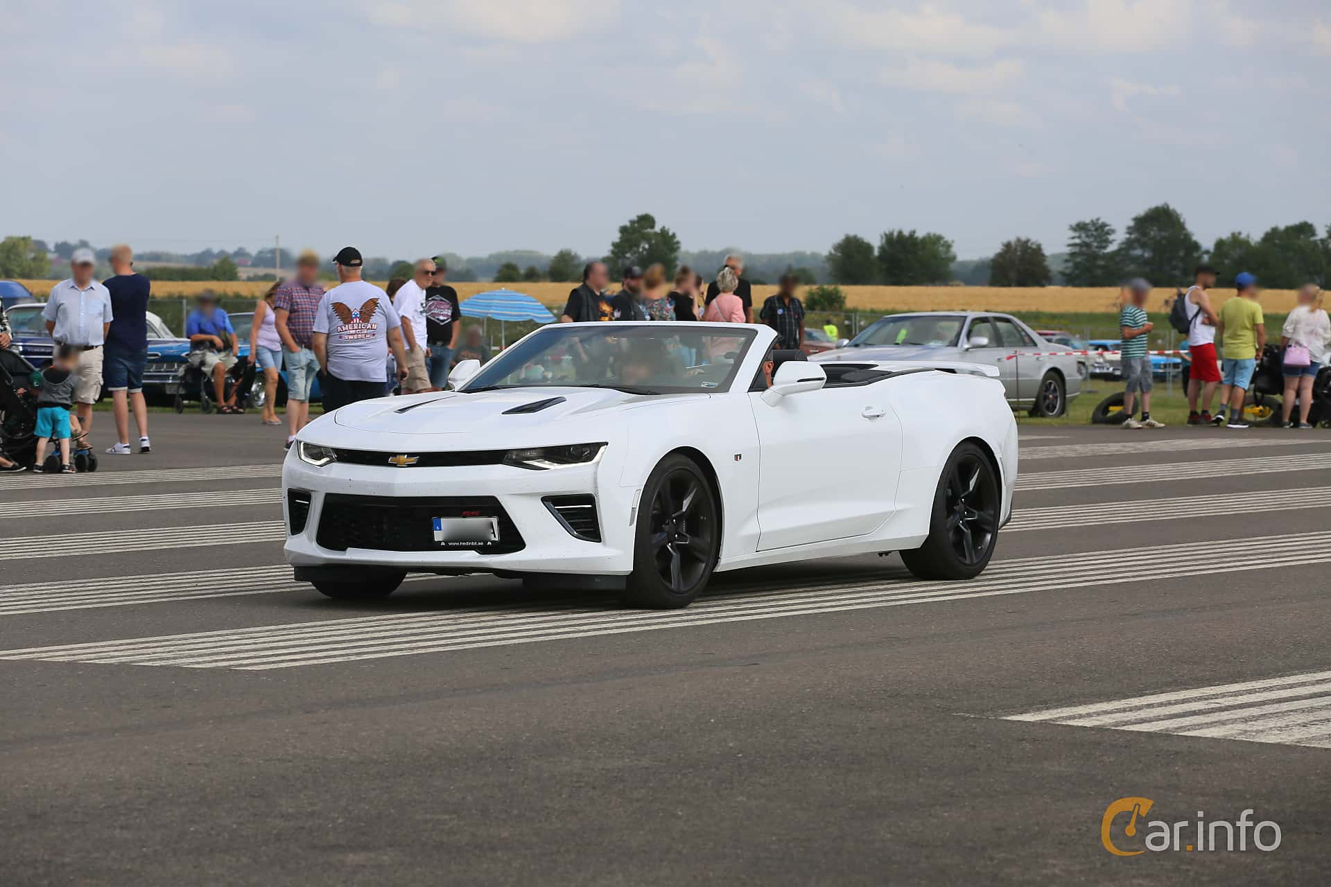 Chevrolet Camaro SS Convertible 6.2 V8 Hydra-Matic, 461hp, 2018 at Falköping Nasco Yankee Meet 2019