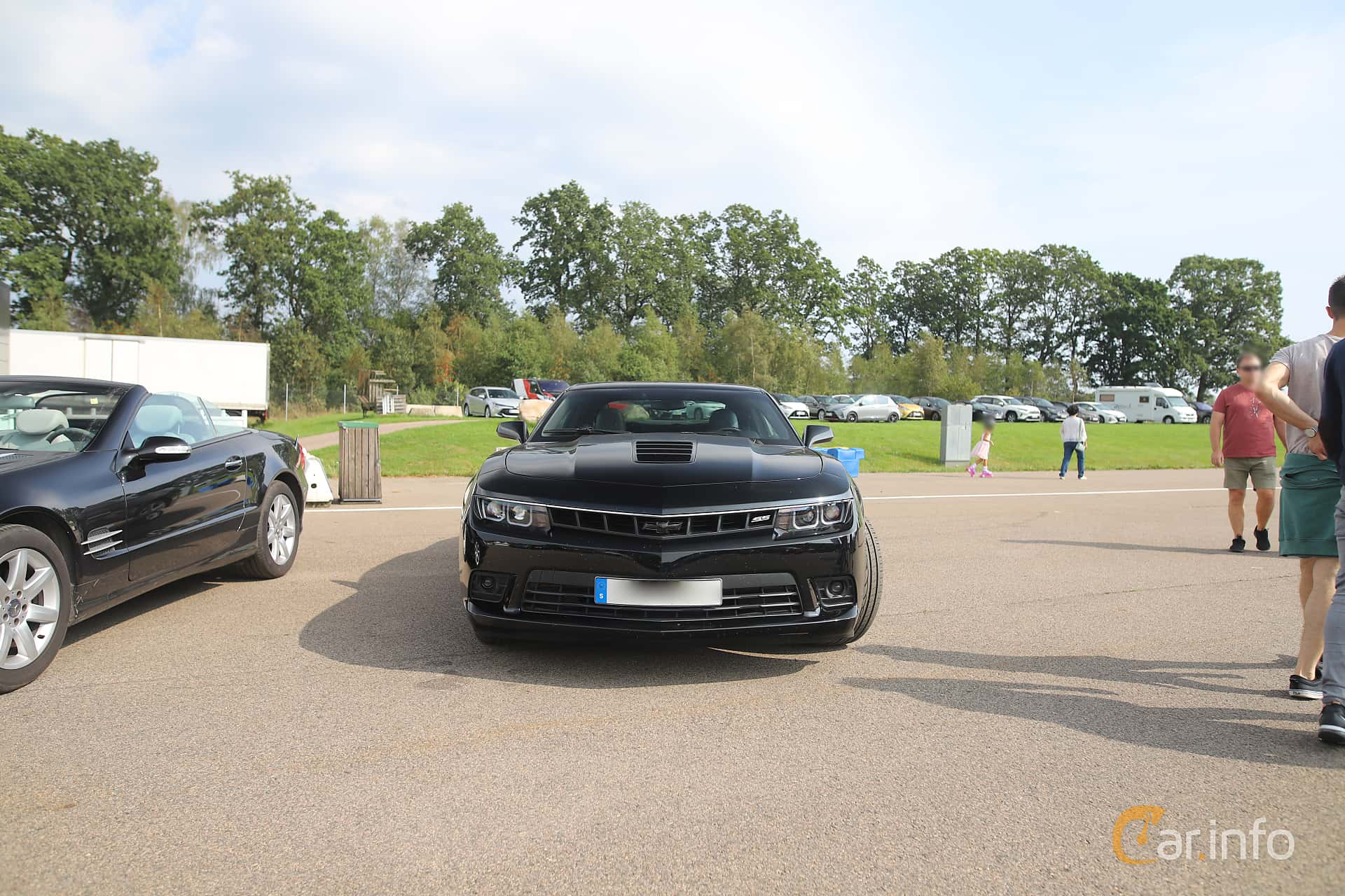 Front  of Chevrolet Camaro SS 6.2 V8 Manual, 432ps, 2014 at Autoropa Racing day Knutstorp 2019