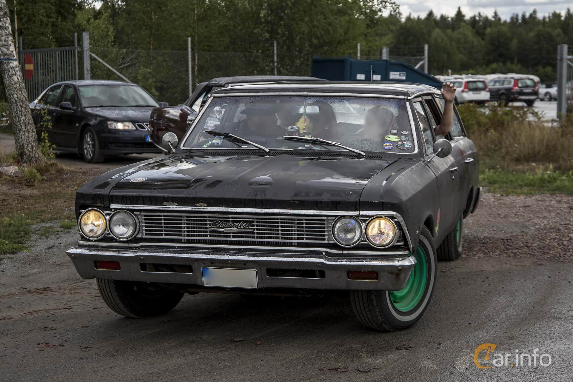3 Images Of Chevrolet Chevelle Malibu Station Wagon 38 Powerglide 1966 Front Side 142ps At