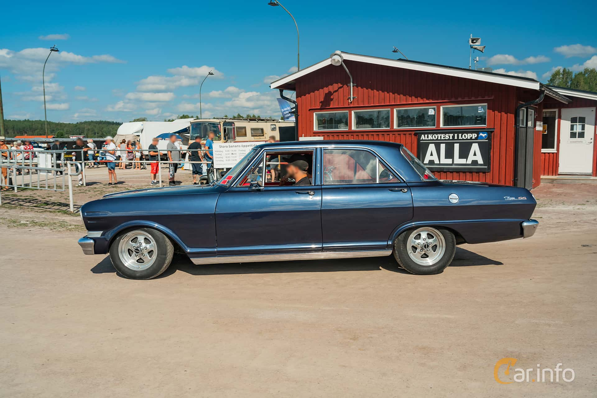 Chevrolet Nova 4-door Sedan 3.2 Powerglide, 122hp, 1963 at Classic Car Week Rättvik 2019 vecka 31